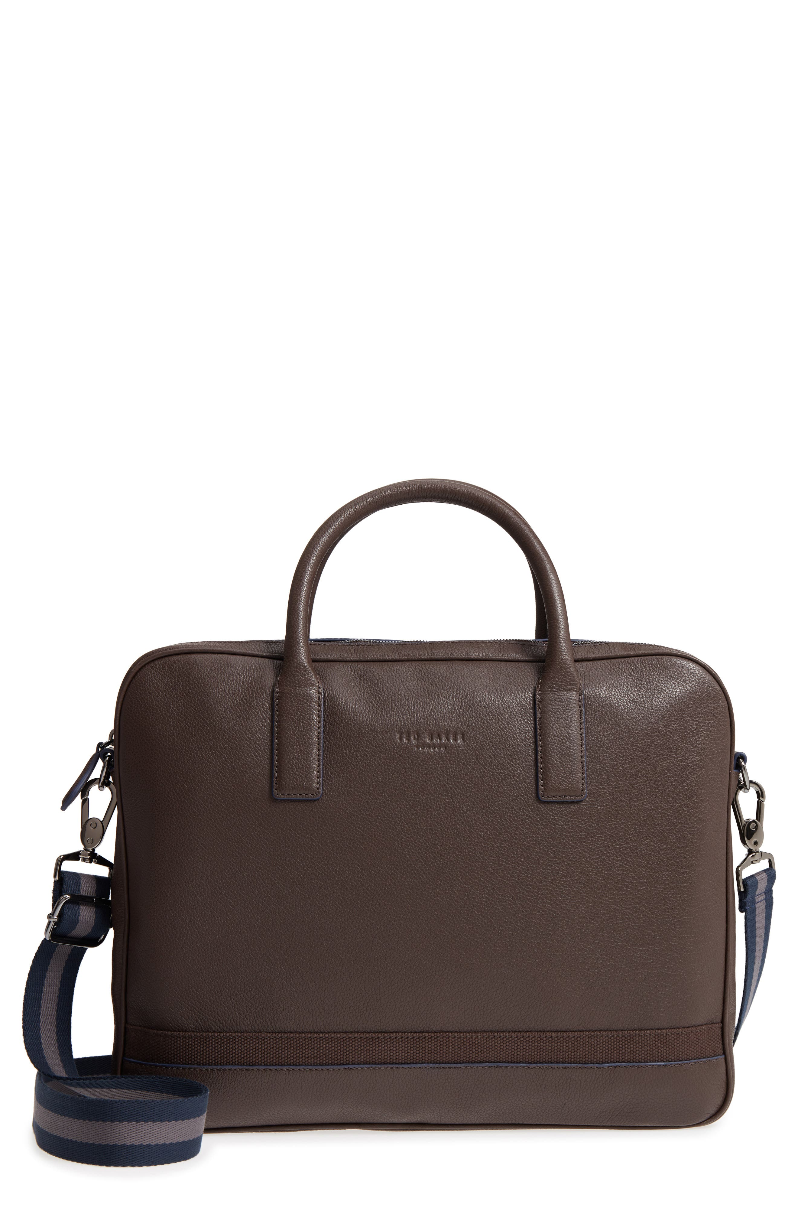 Lowmee Leather Briefcase,                             Main thumbnail 2, color,