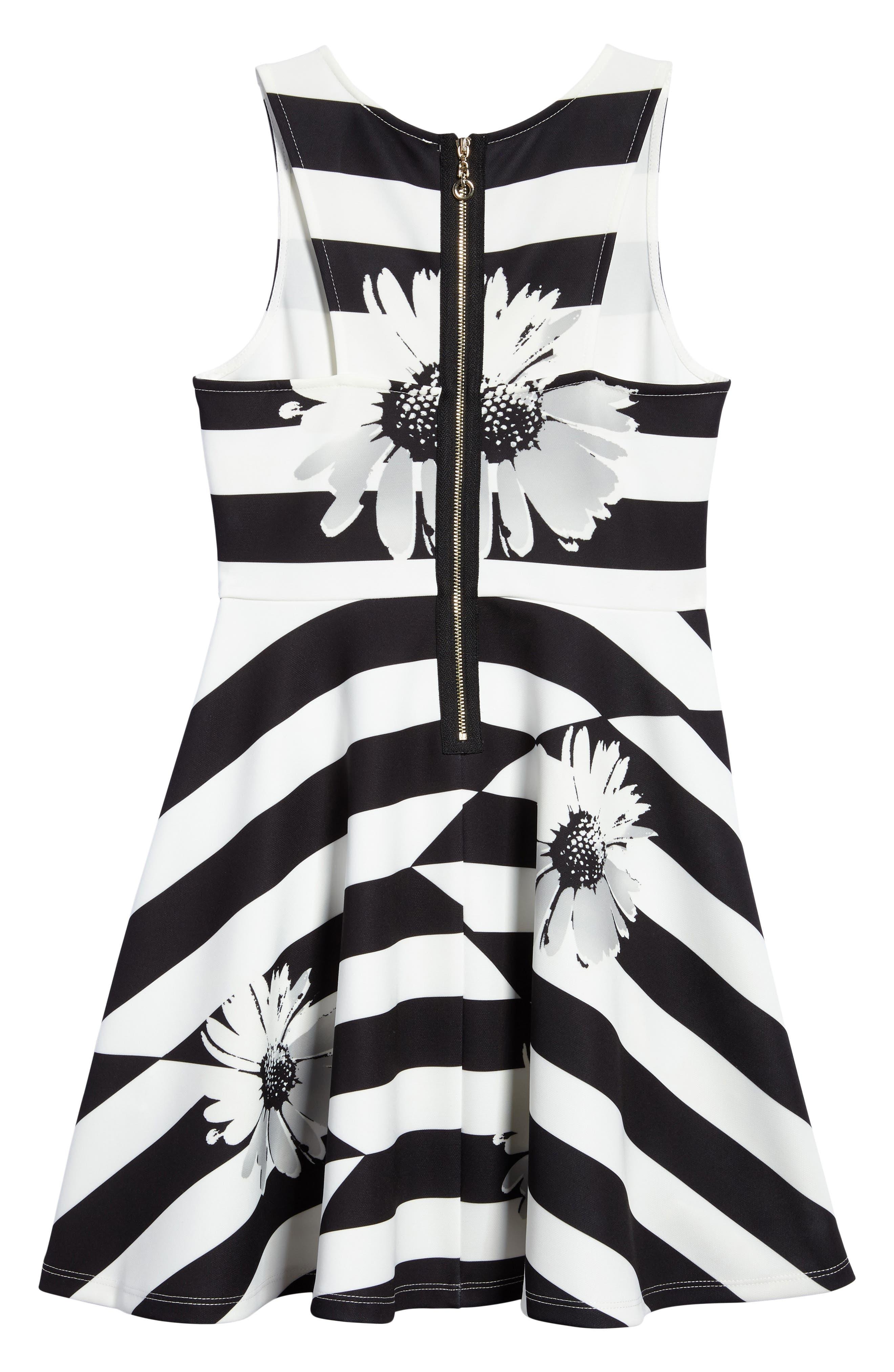 HANNAH BANANA,                             Sunflower Glitz Dress,                             Alternate thumbnail 2, color,                             001