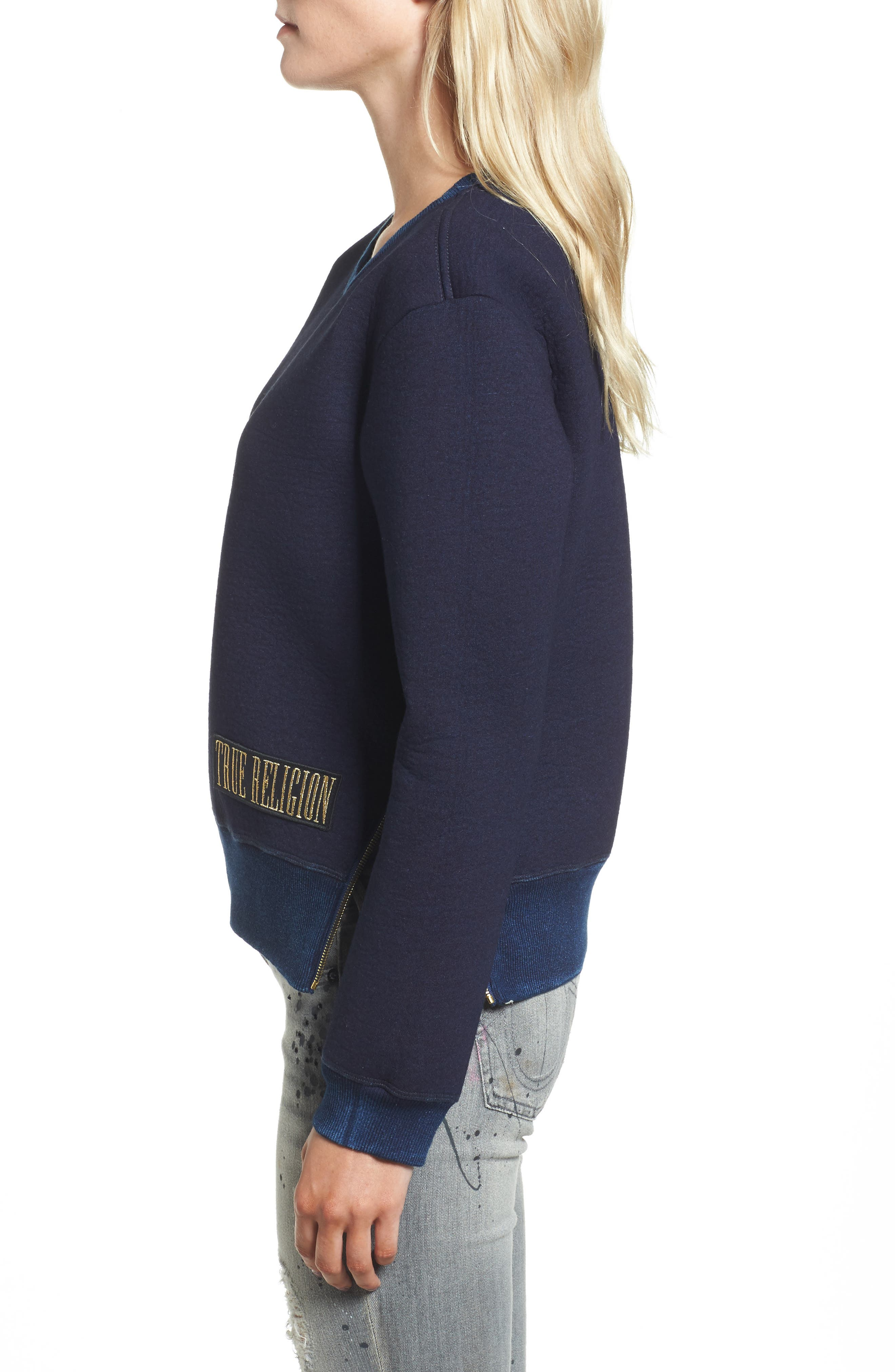 Neoprene Sweatshirt,                             Alternate thumbnail 3, color,                             400