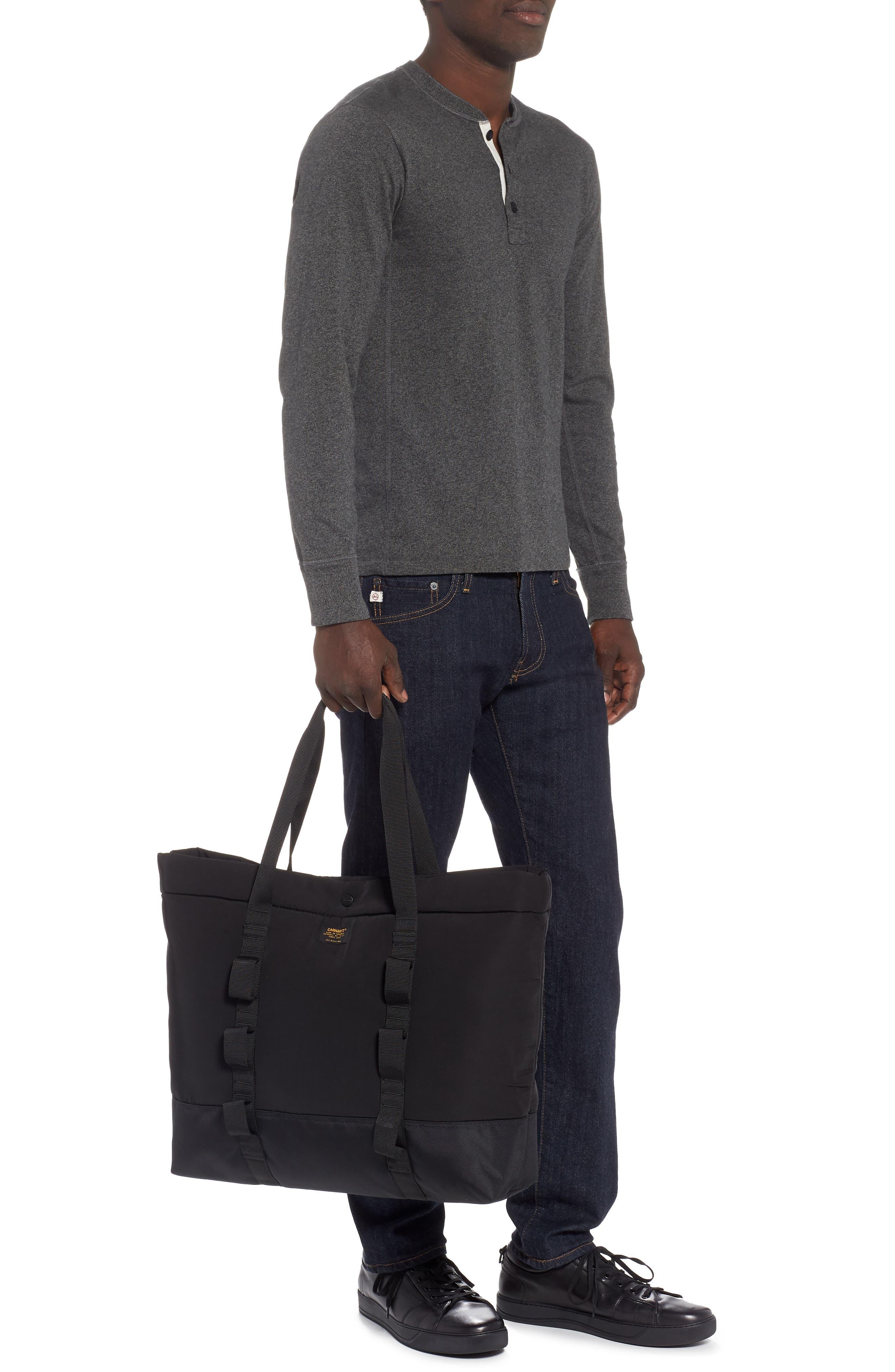 Military Shopper Tote Bag,                             Alternate thumbnail 2, color,                             BLACK / BLACK