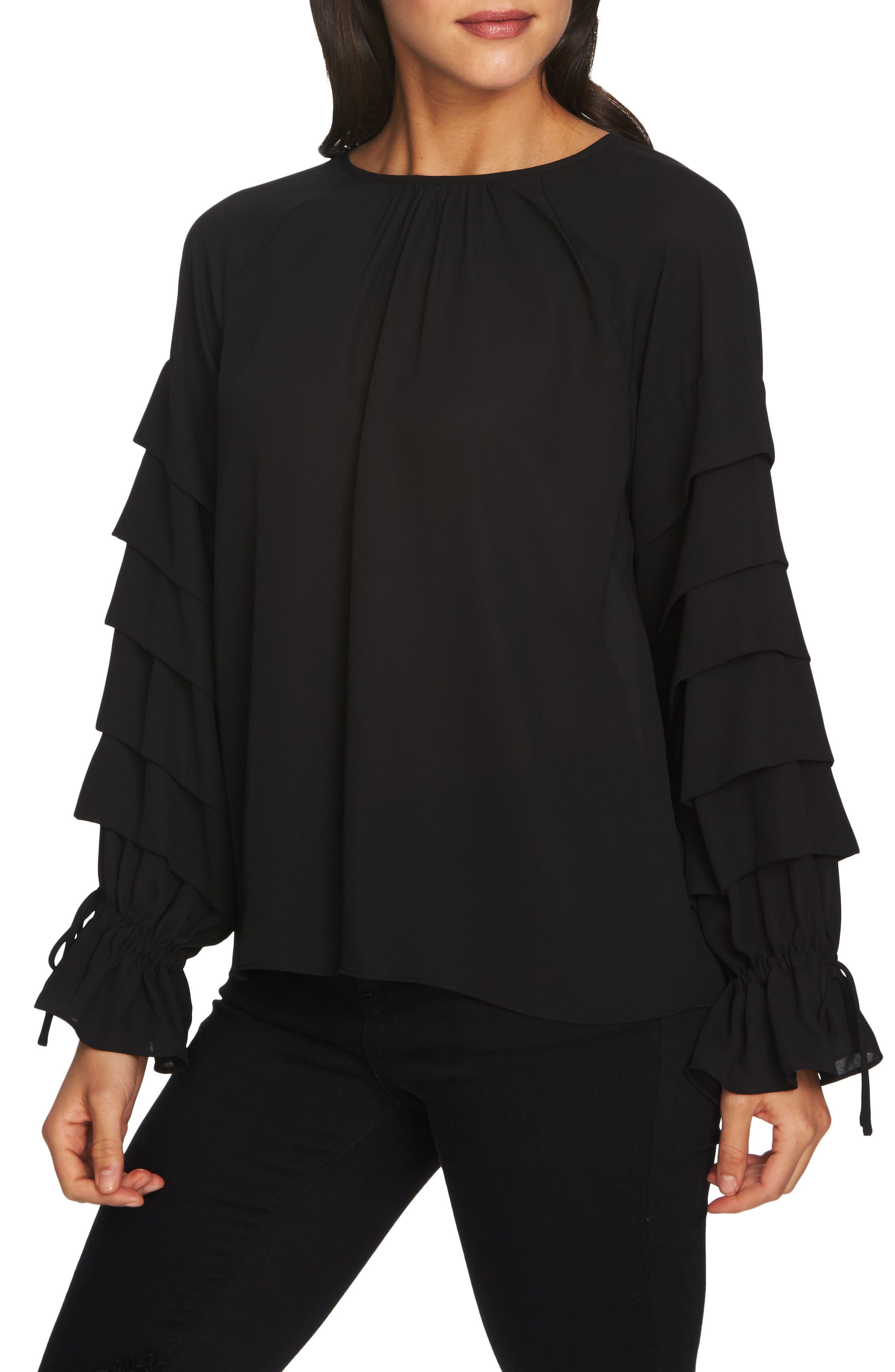 Tiered Sleeve Top,                         Main,                         color,