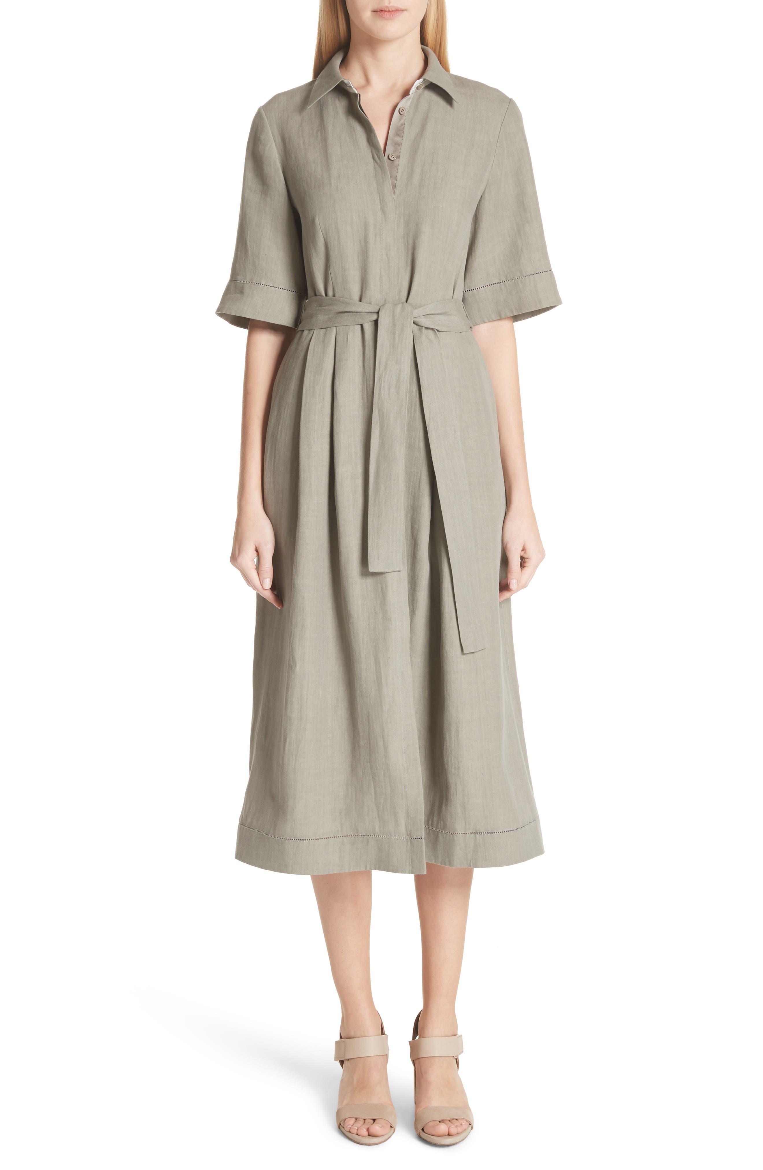 Eleni Linen Shirtdress,                         Main,                         color, 033