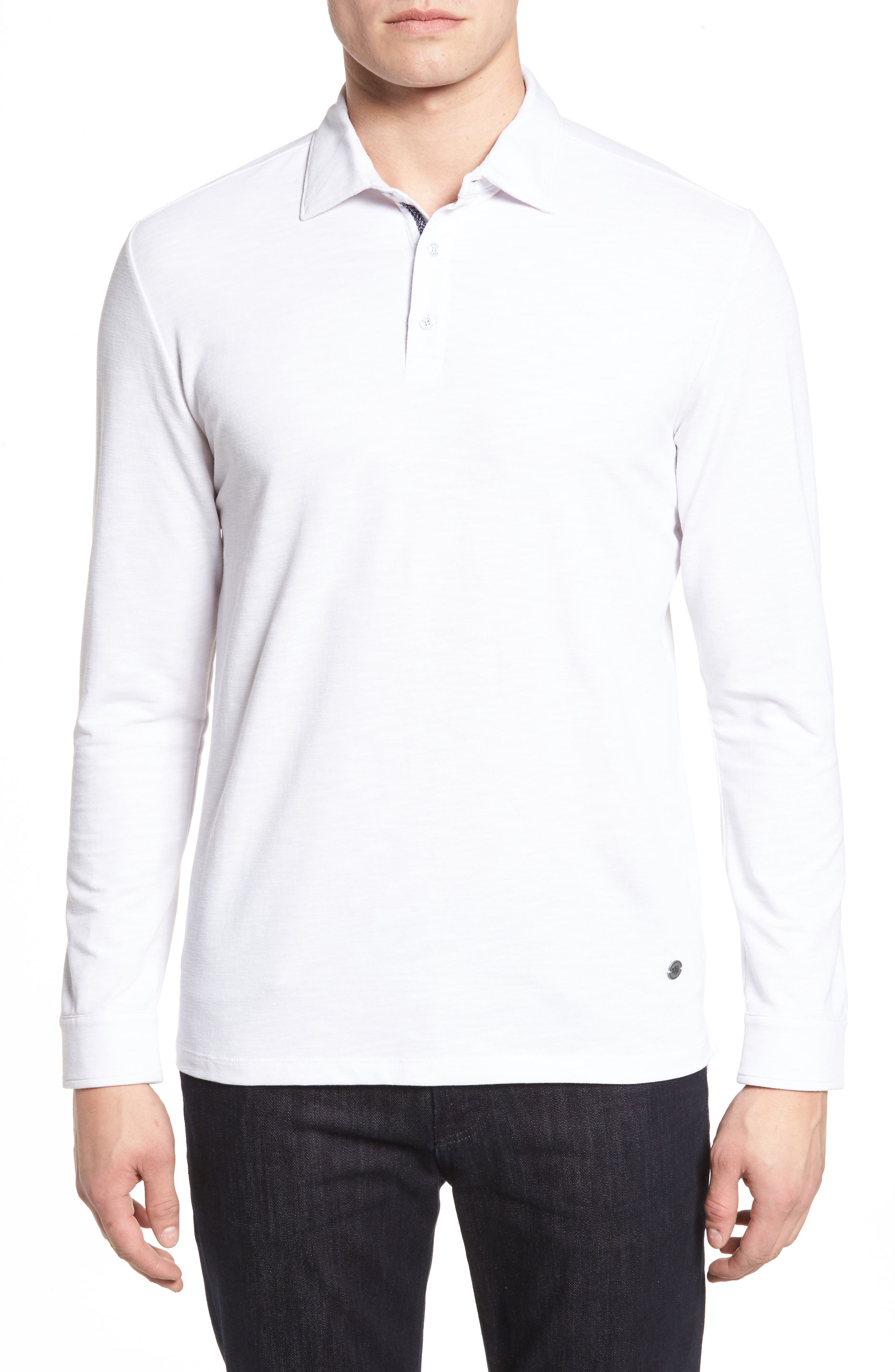 Flame Knit Polo,                         Main,                         color, 100