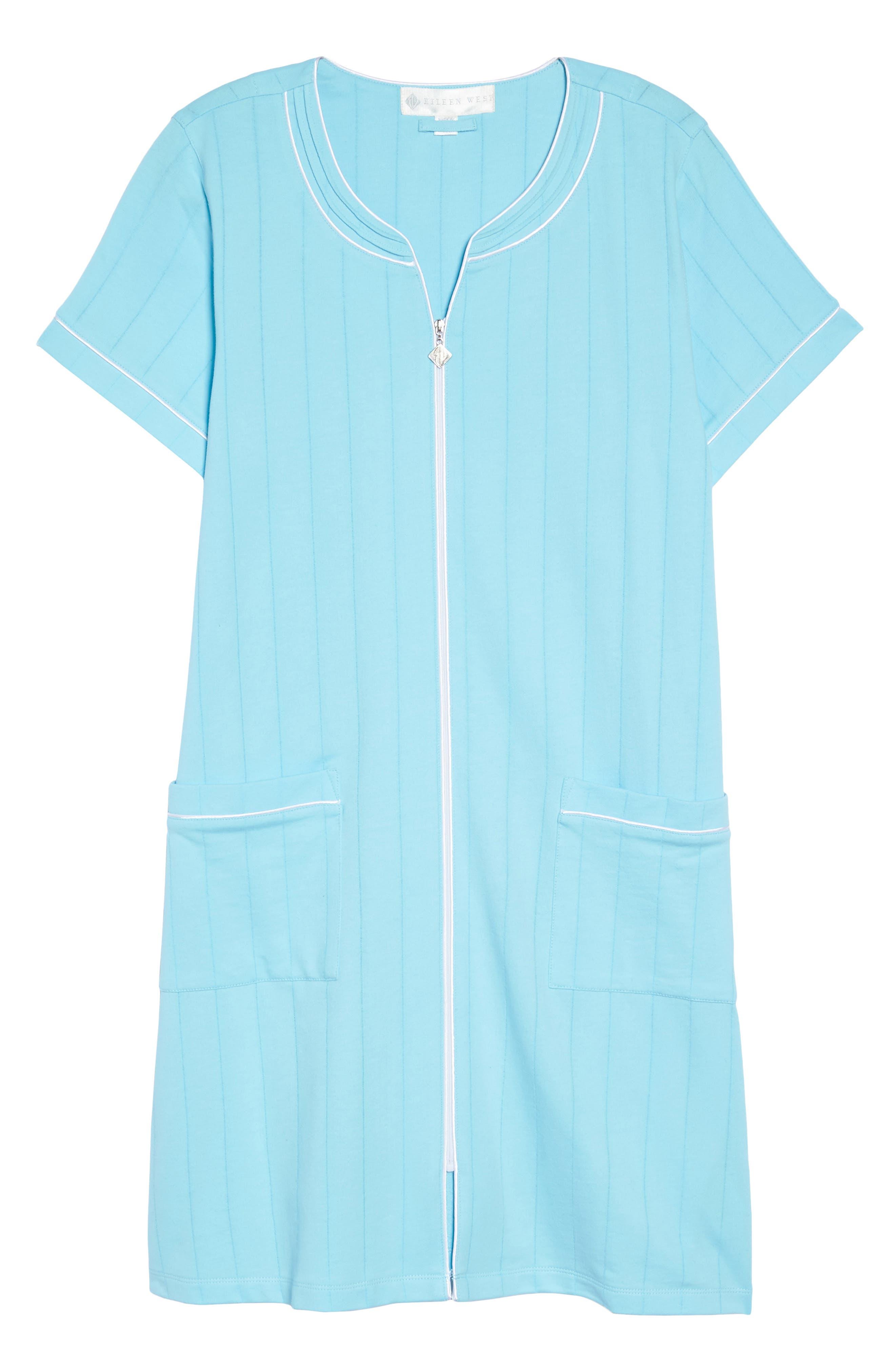 Short Zip Robe,                             Alternate thumbnail 6, color,                             470