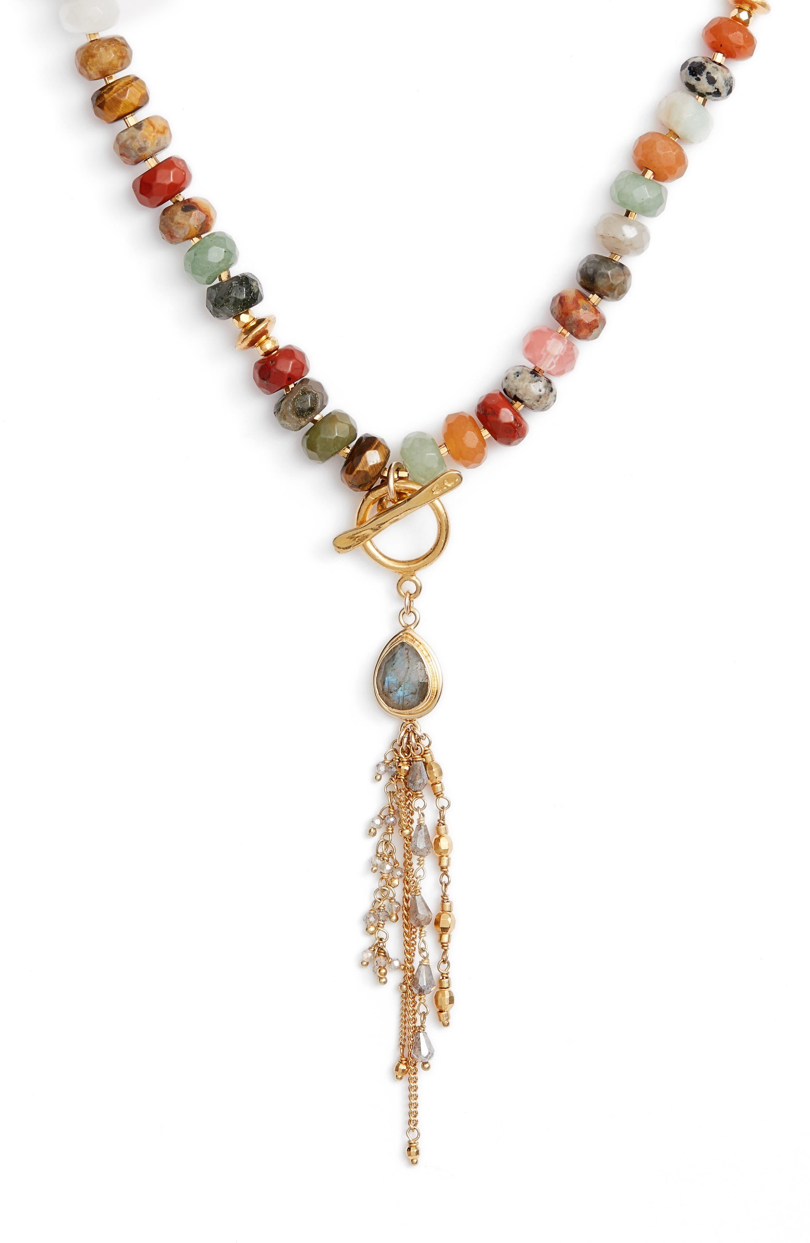 Adjustable Tassel Necklace,                             Alternate thumbnail 3, color,                             200
