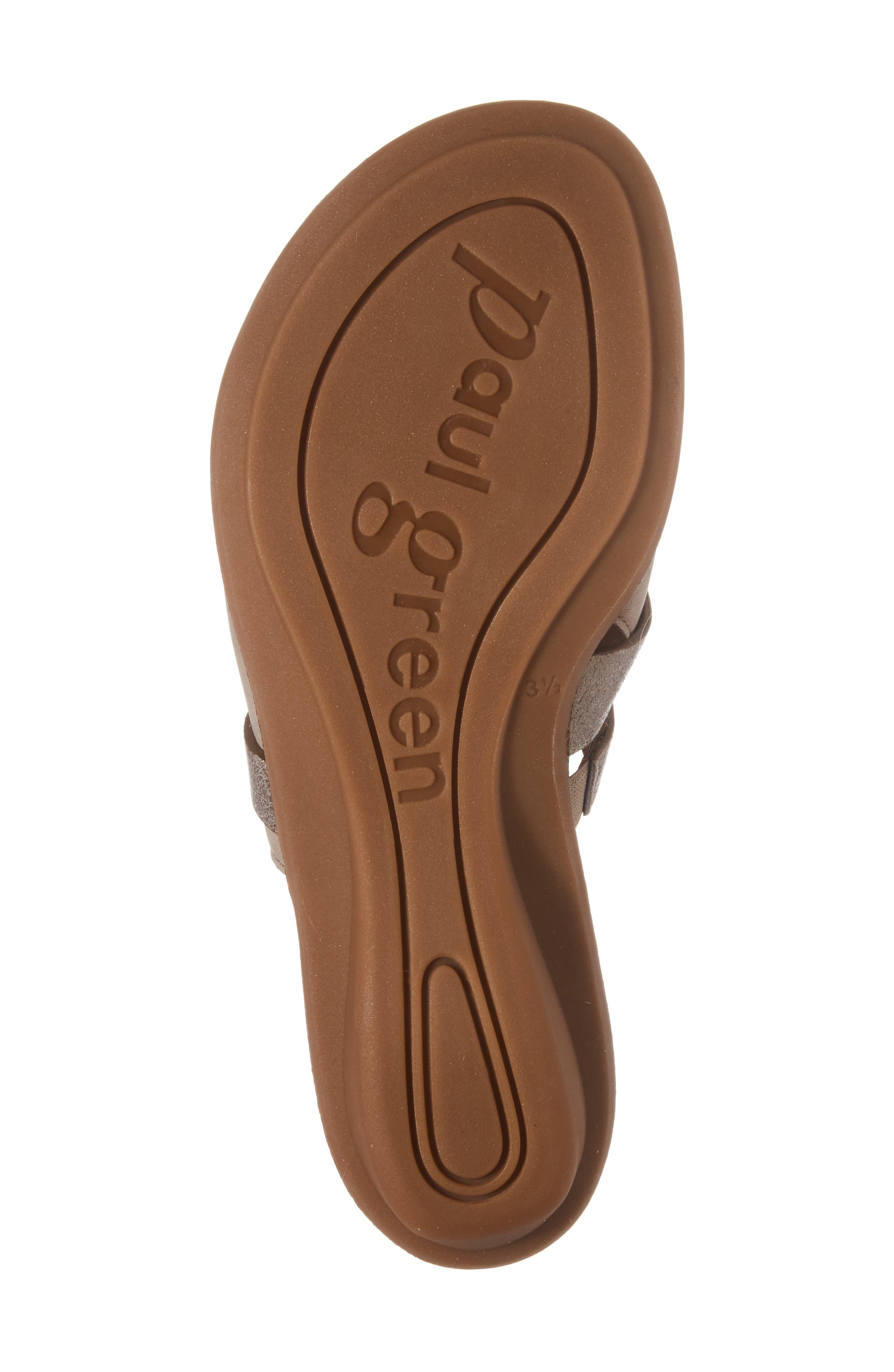 'Bayside' Leather Sandal,                             Alternate thumbnail 6, color,                             GREY