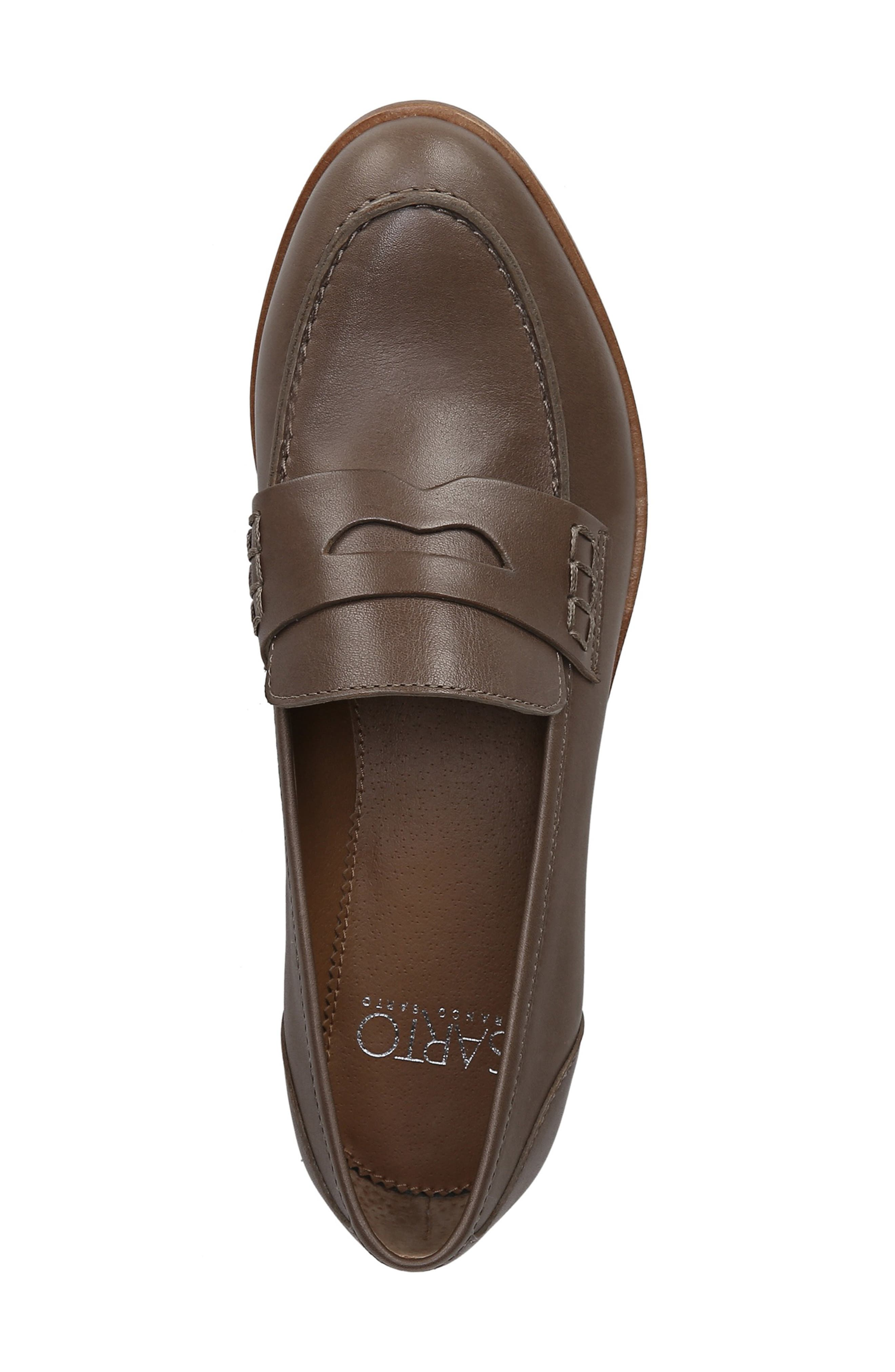 SARTO BY FRANCO SARTO,                             'Jolette' Penny Loafer,                             Alternate thumbnail 5, color,                             DARK PUTTY LEATHER