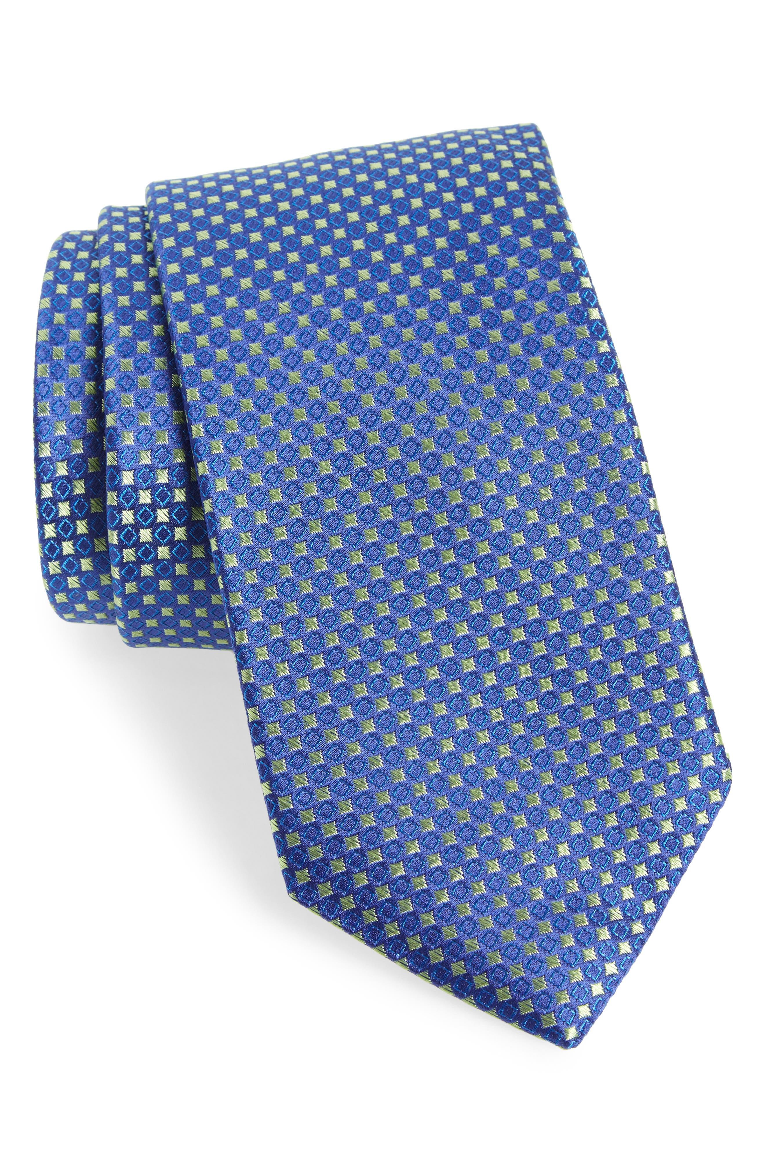 Chad Microdot Silk Tie,                             Main thumbnail 4, color,