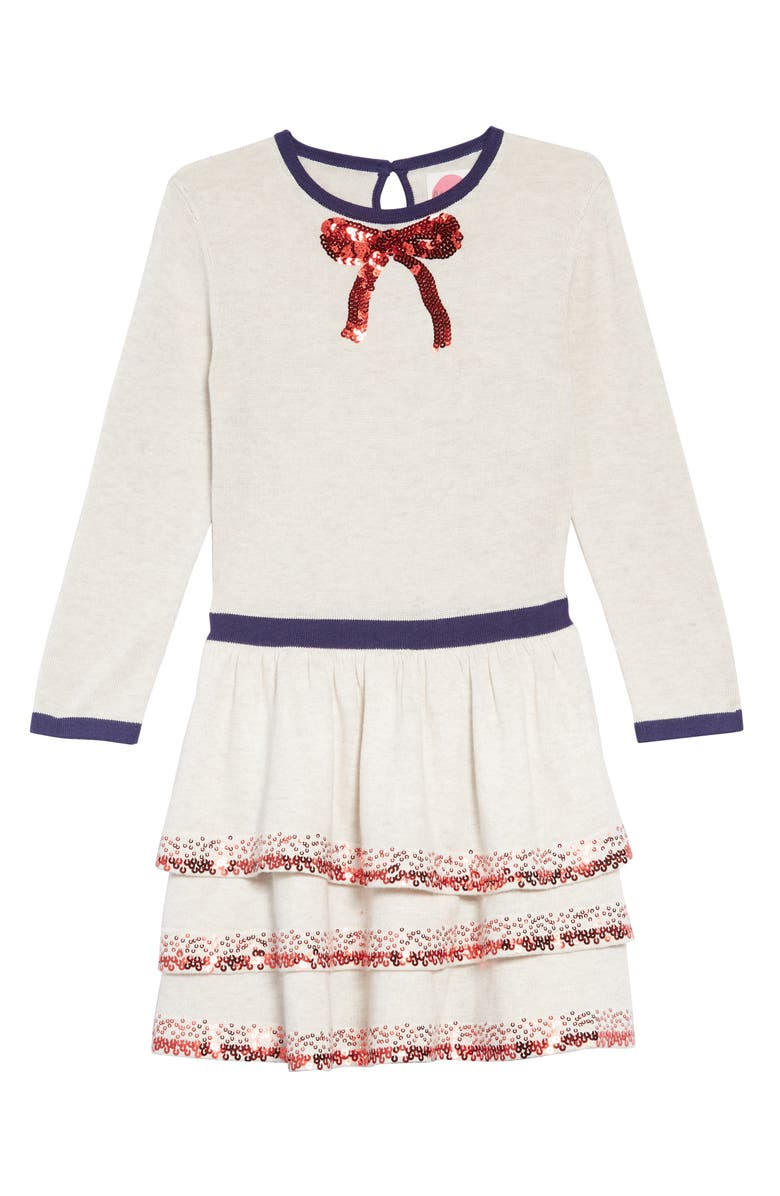 Mini Boden Party Sweater Dress,                         Main,                         color, ECR ECRU MARL