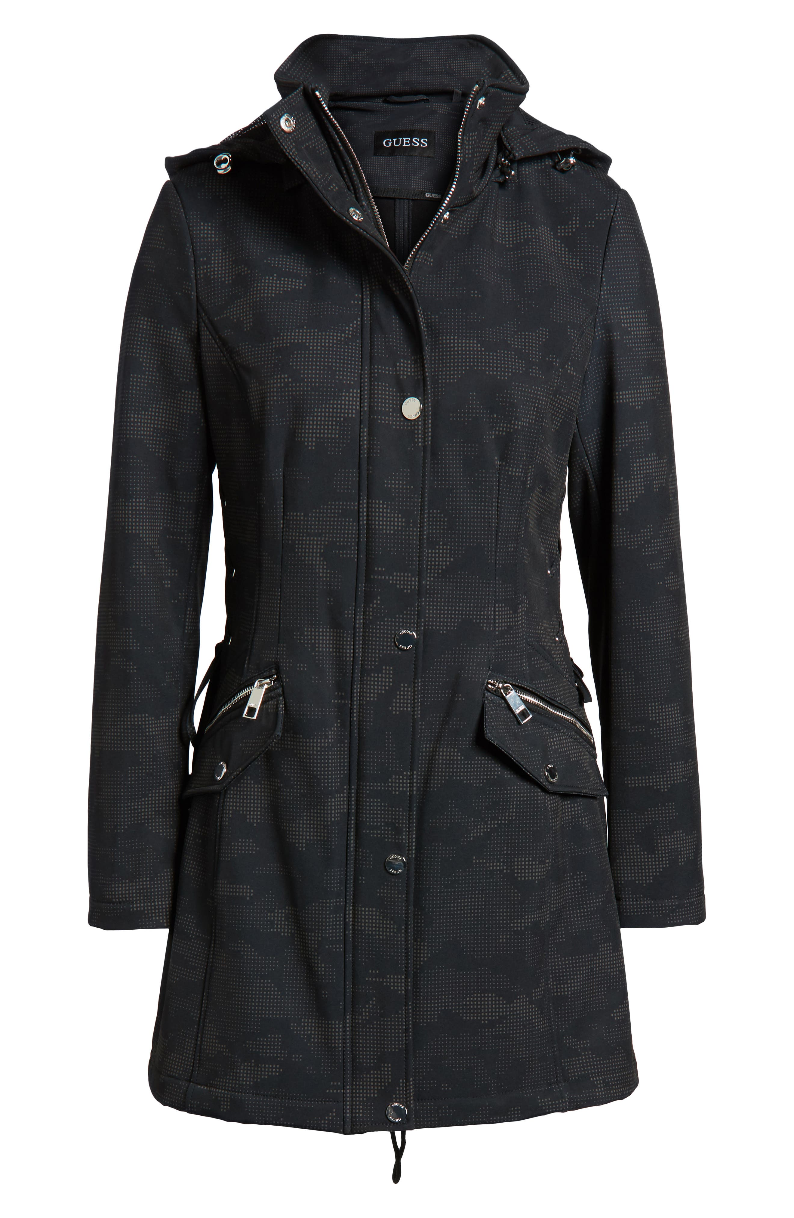 Lace-Up Hooded Jacket,                             Alternate thumbnail 6, color,