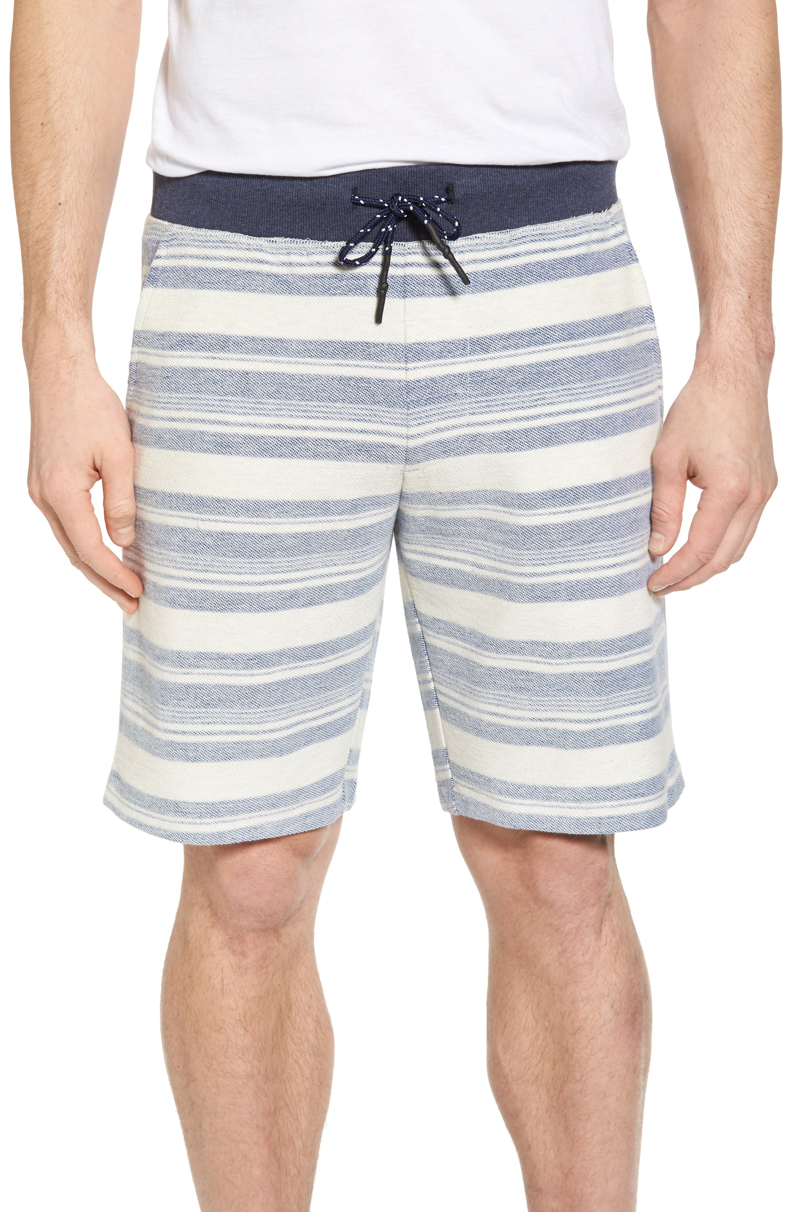Stripe Reverse Terry Shorts,                         Main,                         color, 461
