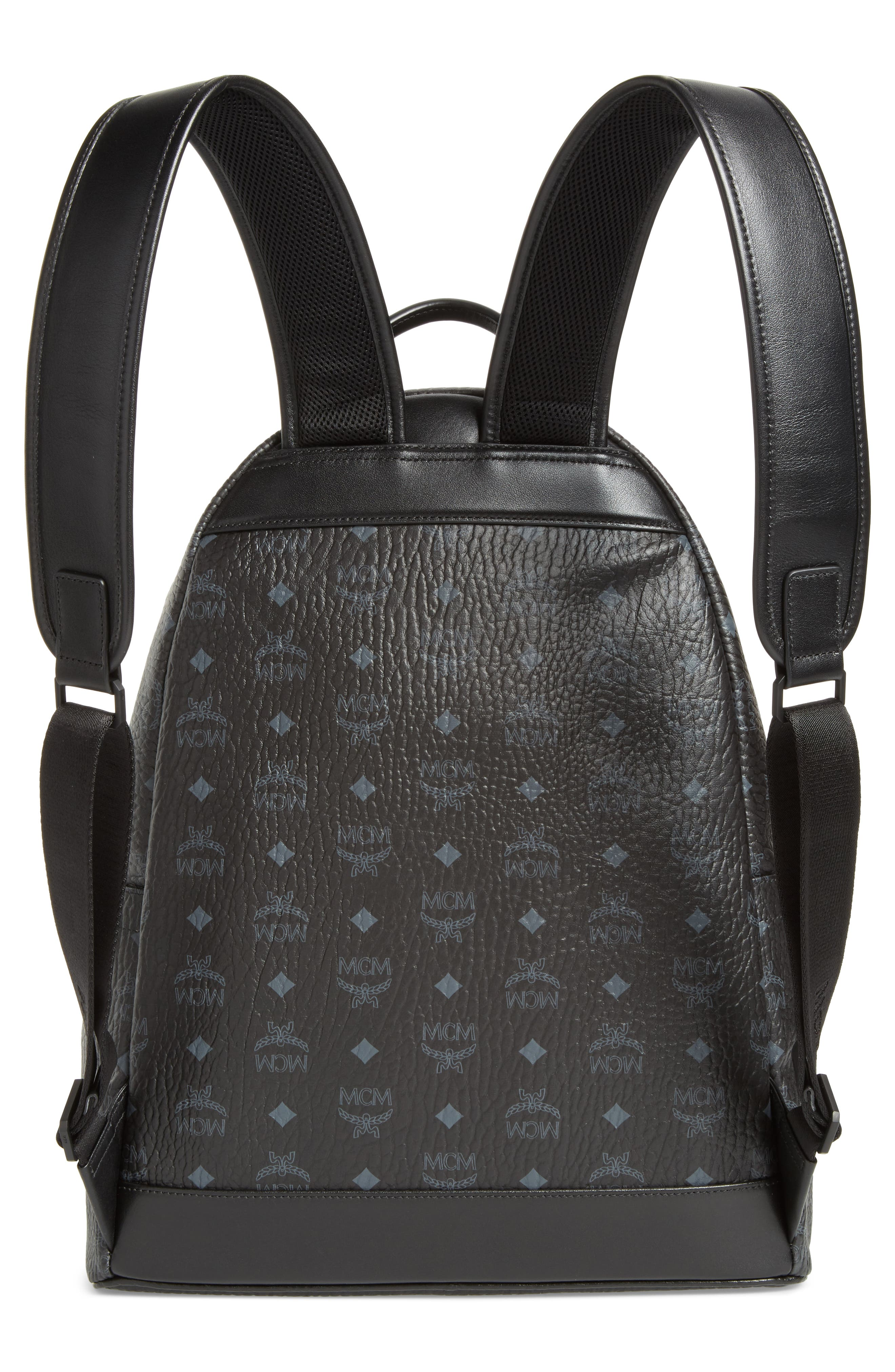 Stark Visetos Patch Faux Leather Backpack,                             Alternate thumbnail 3, color,