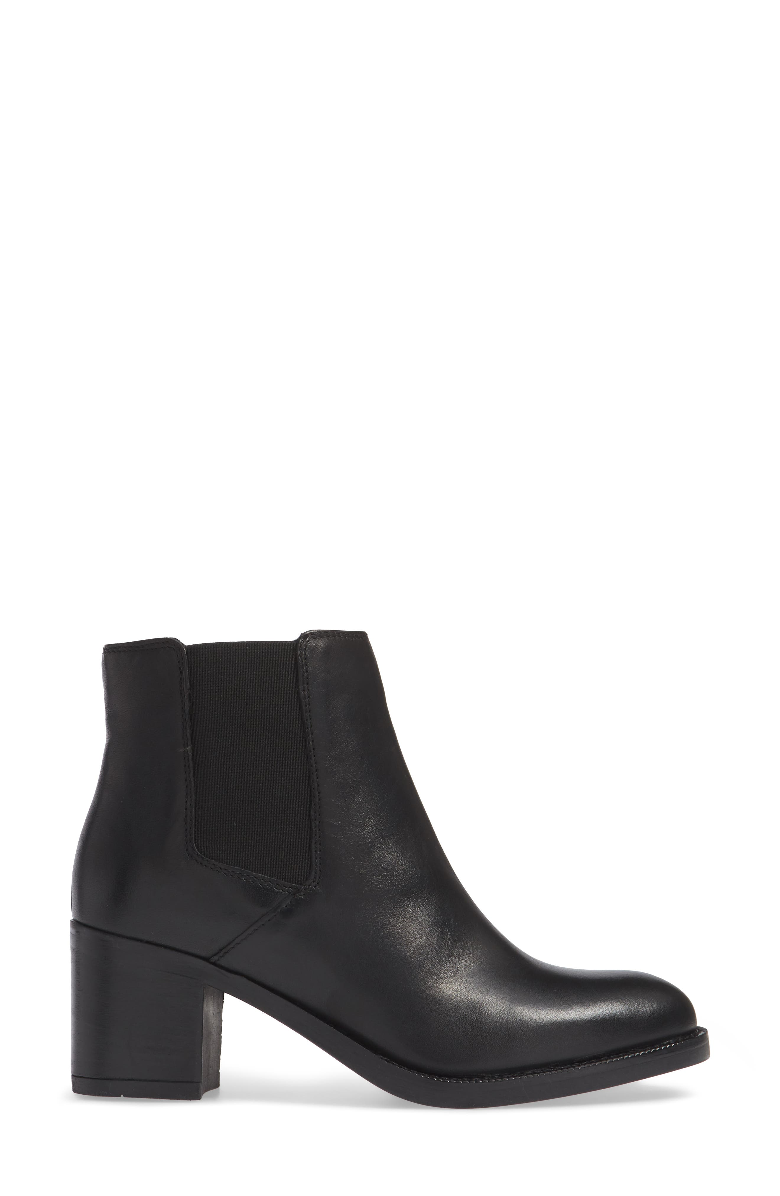 Mascarpone Bay Chelsea Boot,                             Alternate thumbnail 3, color,                             BLACK LEATHER