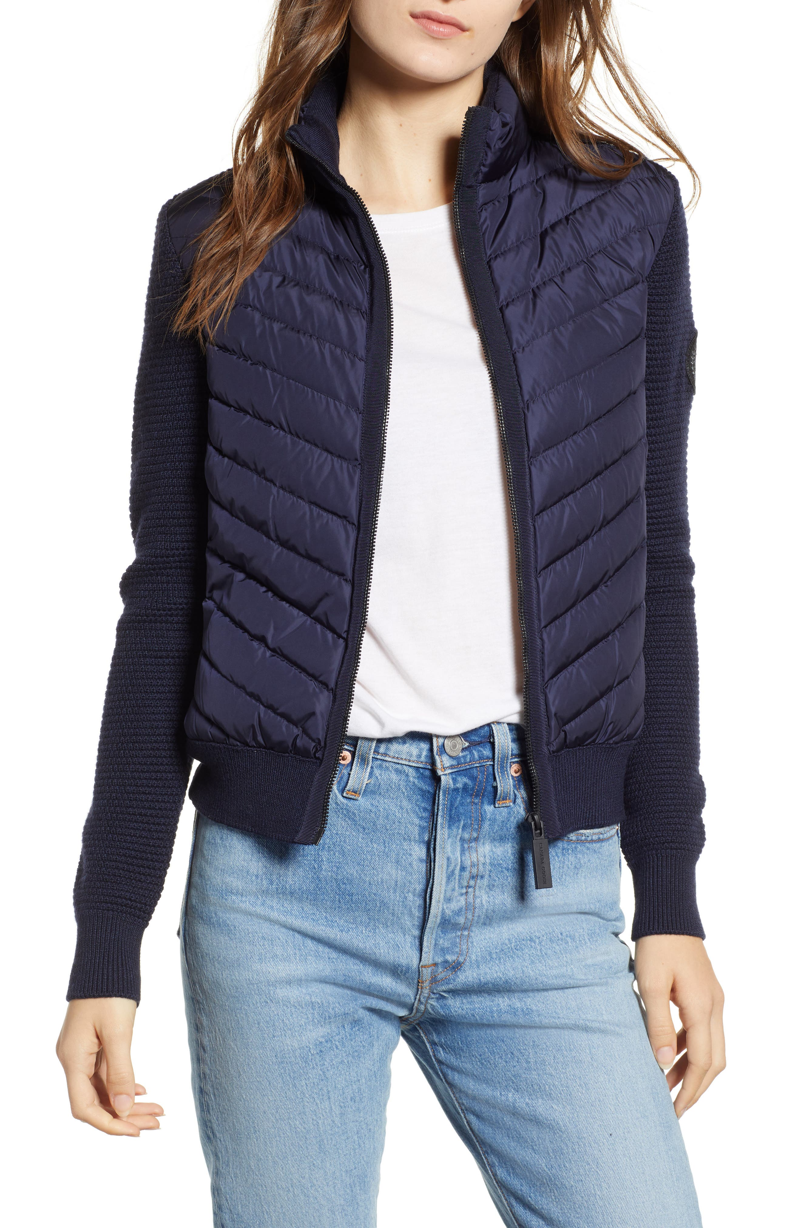 Canada Goose Hybridge Quilted & Knit Jacket, (0) - Blue