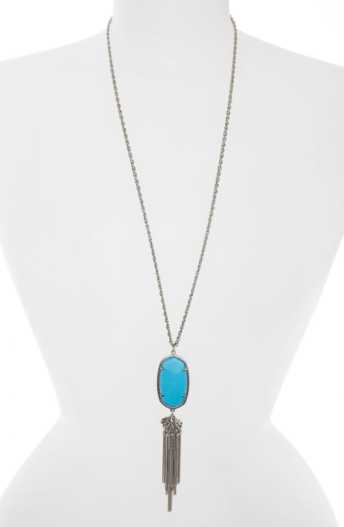 Rayne Stone Tassel Pendant Necklace,                             Main thumbnail 50, color,