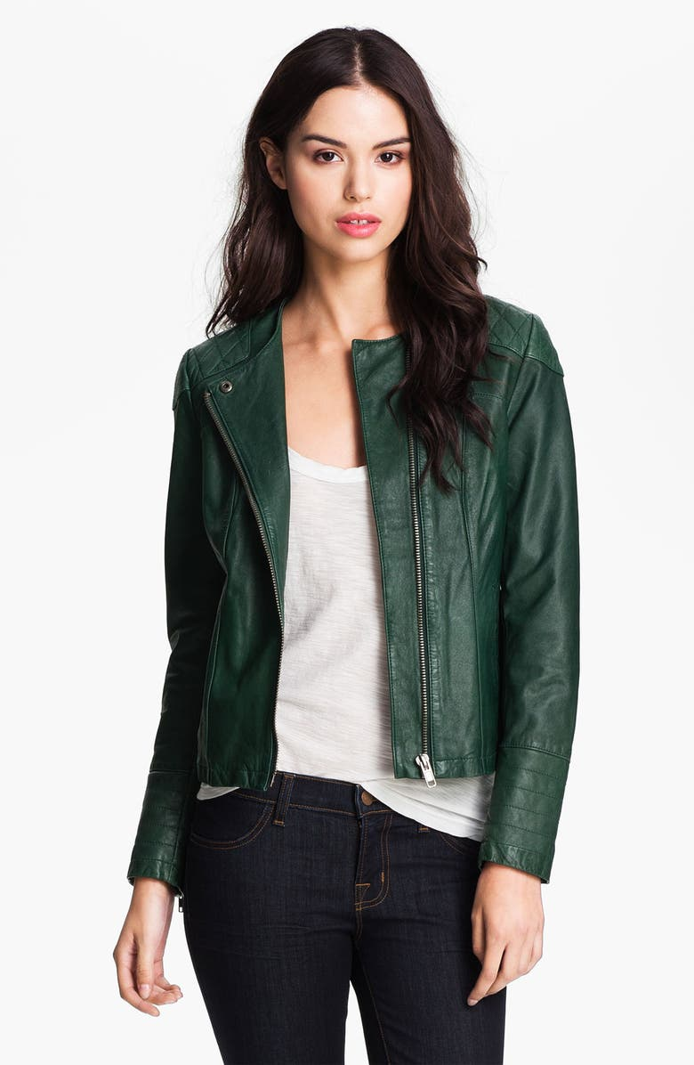Q40 Quilted Leather Moto Jacket Nordstrom