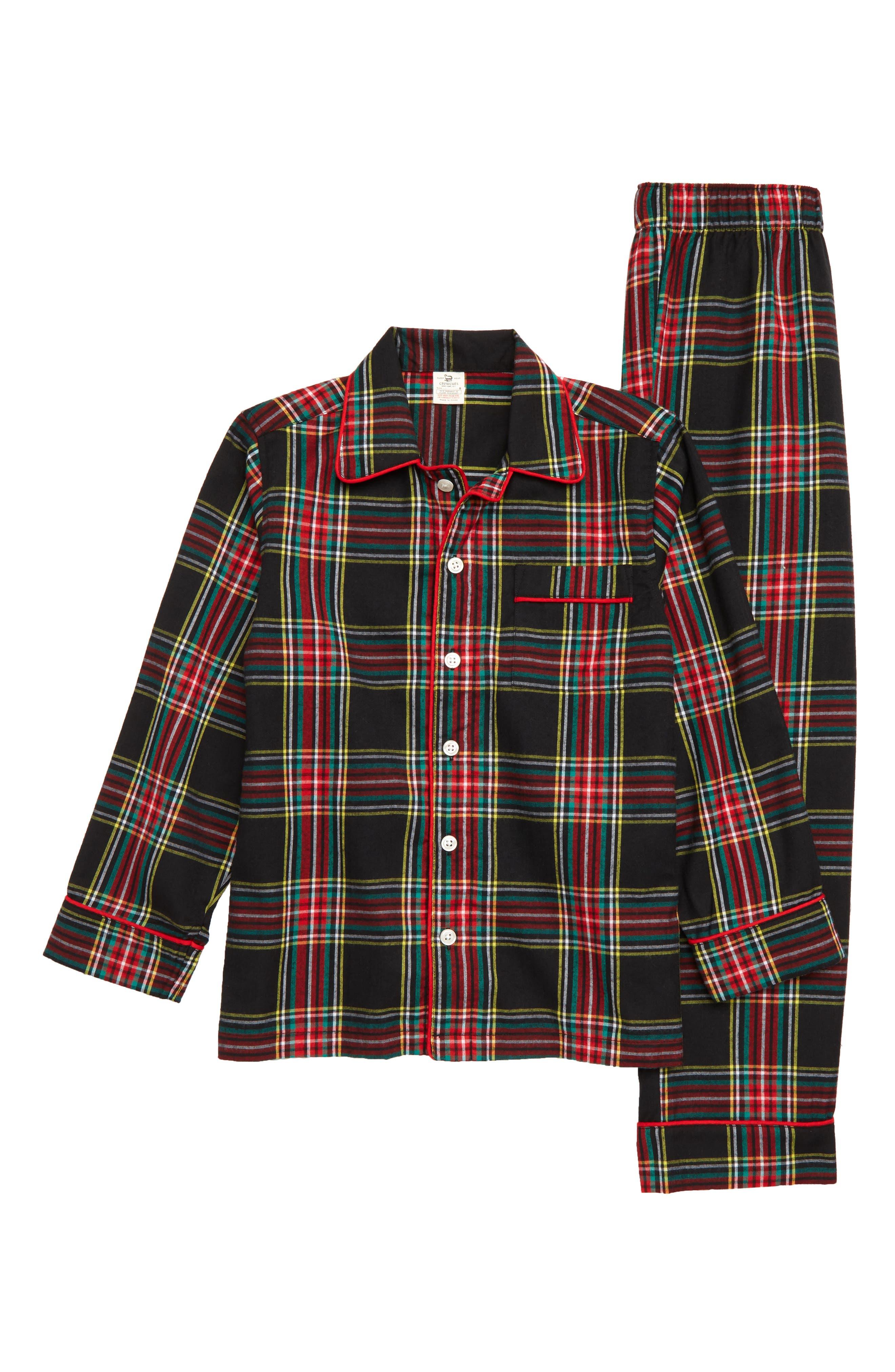 Toddler Boys Crewcuts By Jcrew Stewart Black Tartan TwoPiece Pajamas Size 2T  None