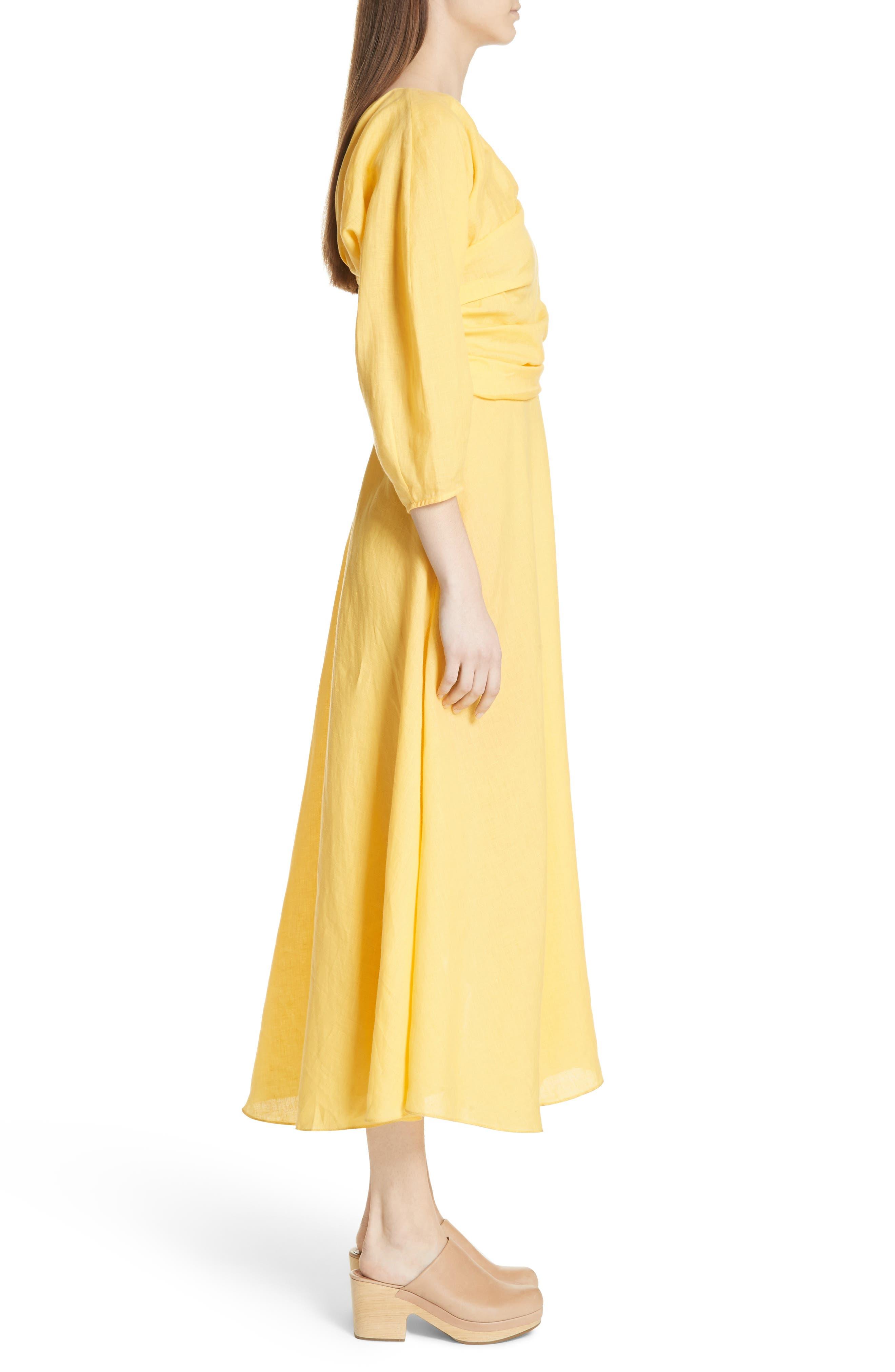 Tipple One-Shoulder Dress,                             Alternate thumbnail 3, color,                             YELLOW