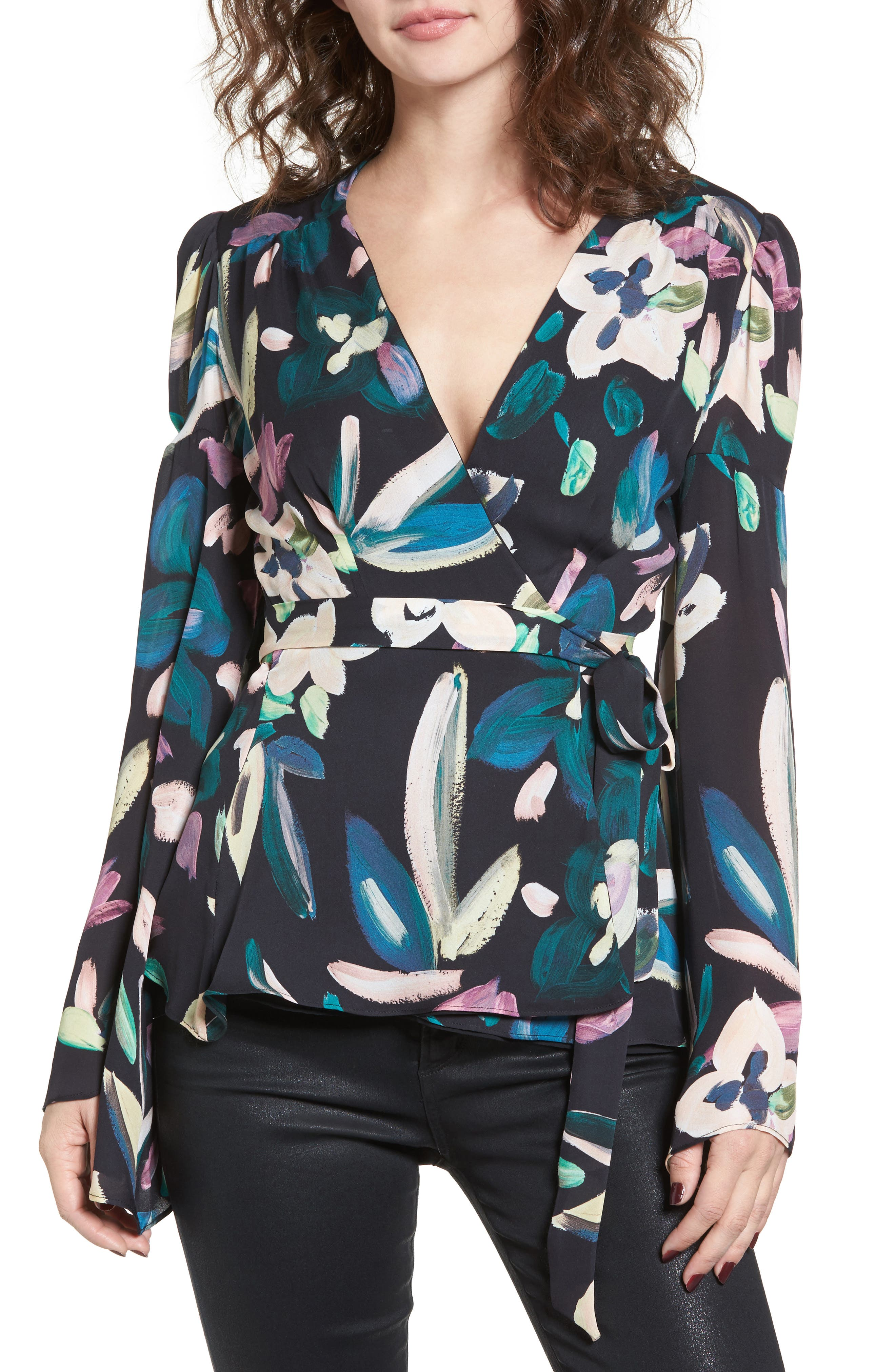 Beverly Wrap Top,                         Main,                         color,
