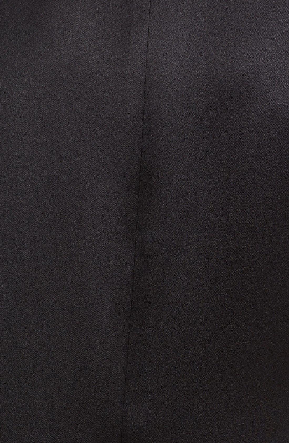 Short Sleeve Crepe Back Top,                             Alternate thumbnail 3, color,                             001