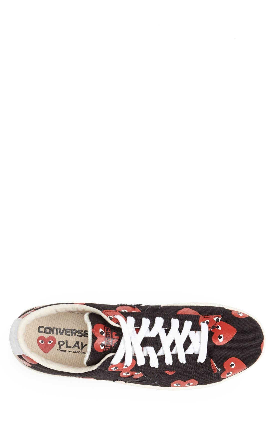 PLAY x Converse Chuck Taylor<sup>®</sup> Low Top Sneaker,                             Alternate thumbnail 3, color,                             001