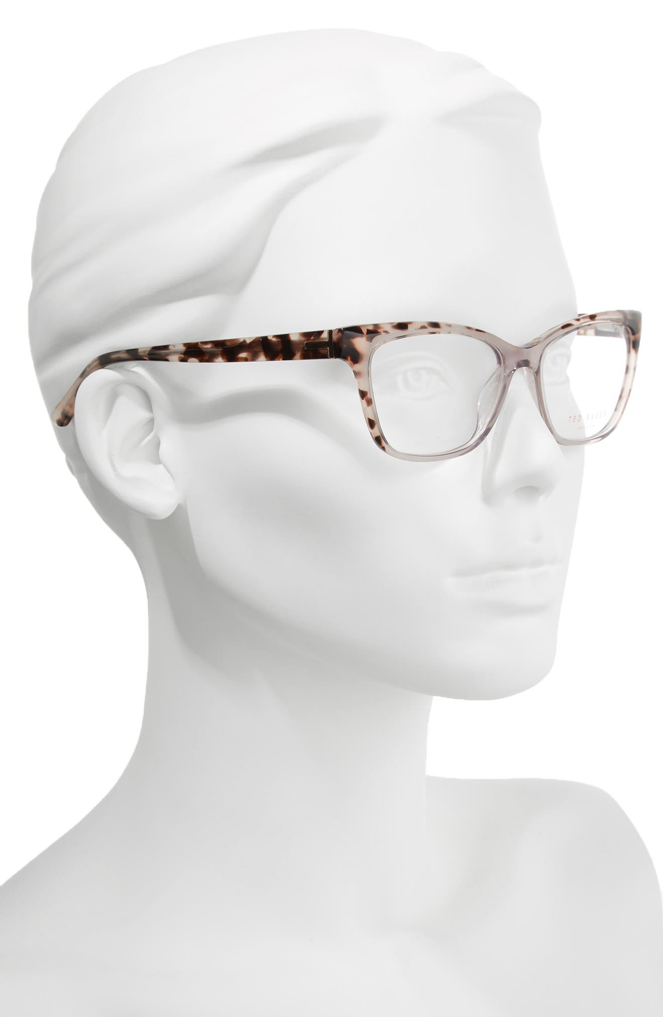 53mm Optical Cat Eye Glasses,                             Alternate thumbnail 4, color,
