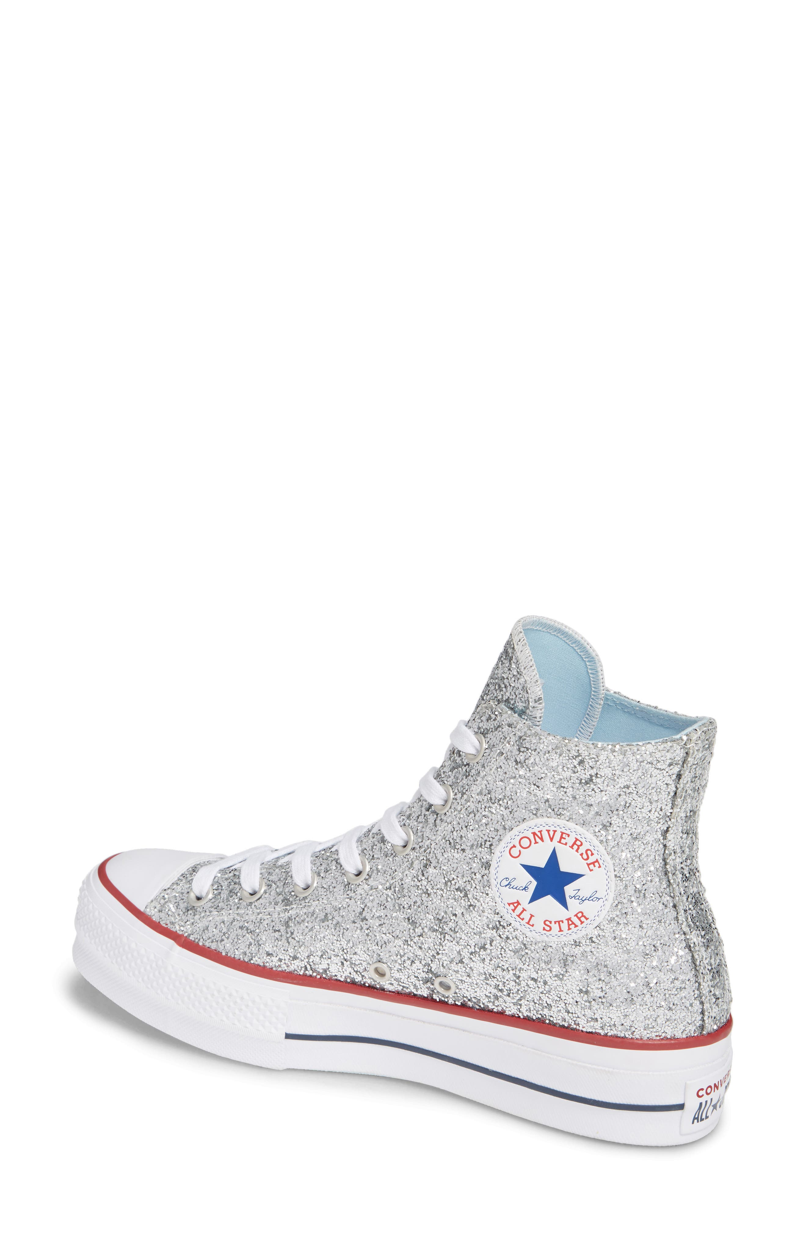 CONVERSE,                             x Chiara Ferragni 70 Hi One Star Glitter Platform Sneaker,                             Alternate thumbnail 2, color,                             040