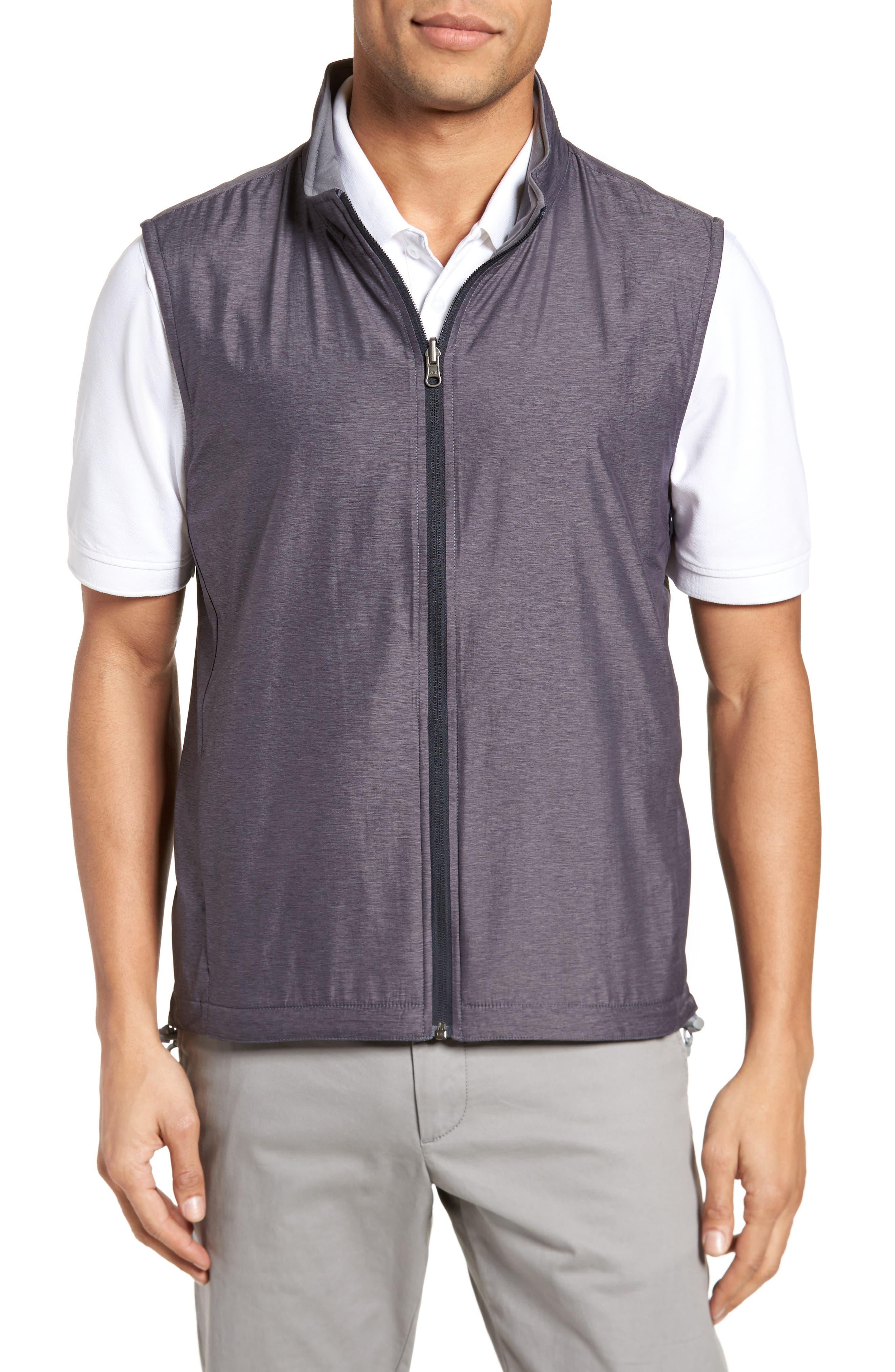 Carthage Reversible Vest,                         Main,                         color, BLACK