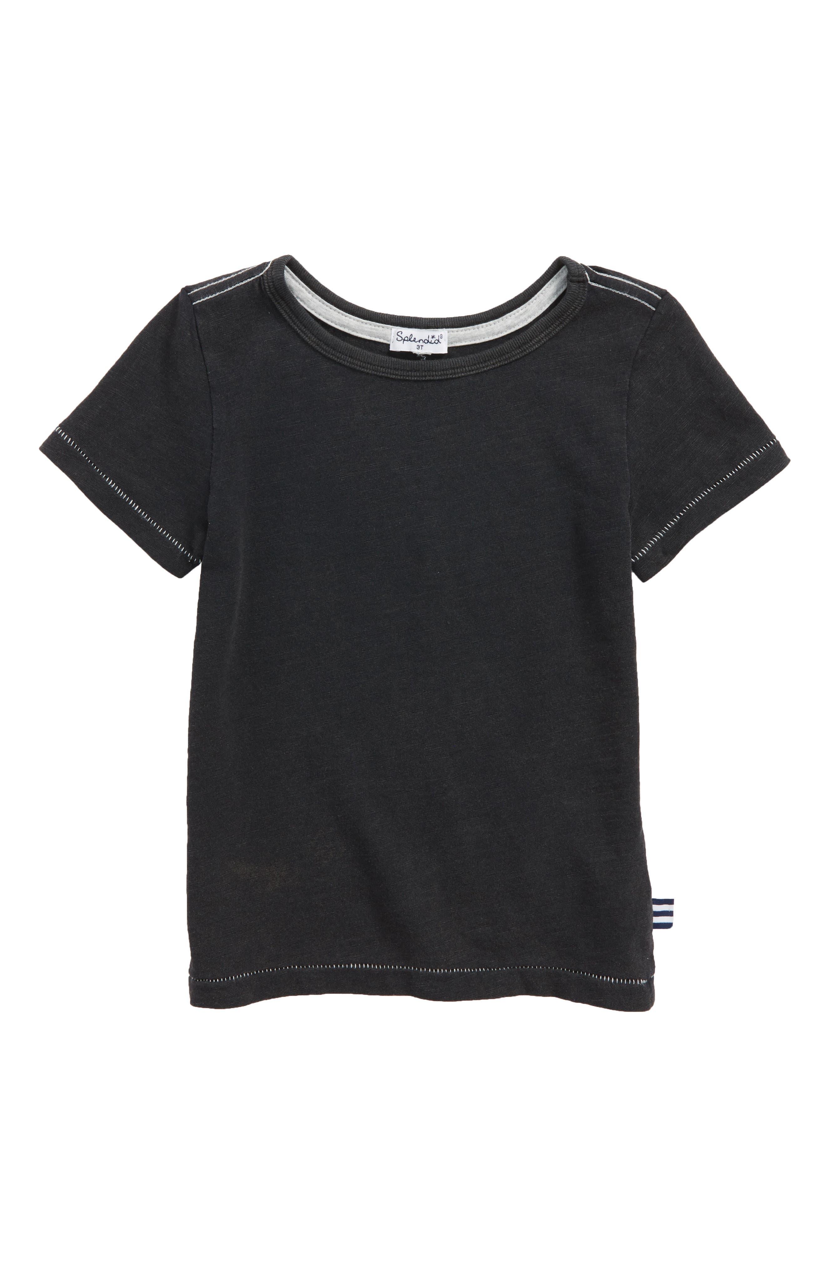 Washed Slub Jersey T-Shirt,                         Main,                         color, 001
