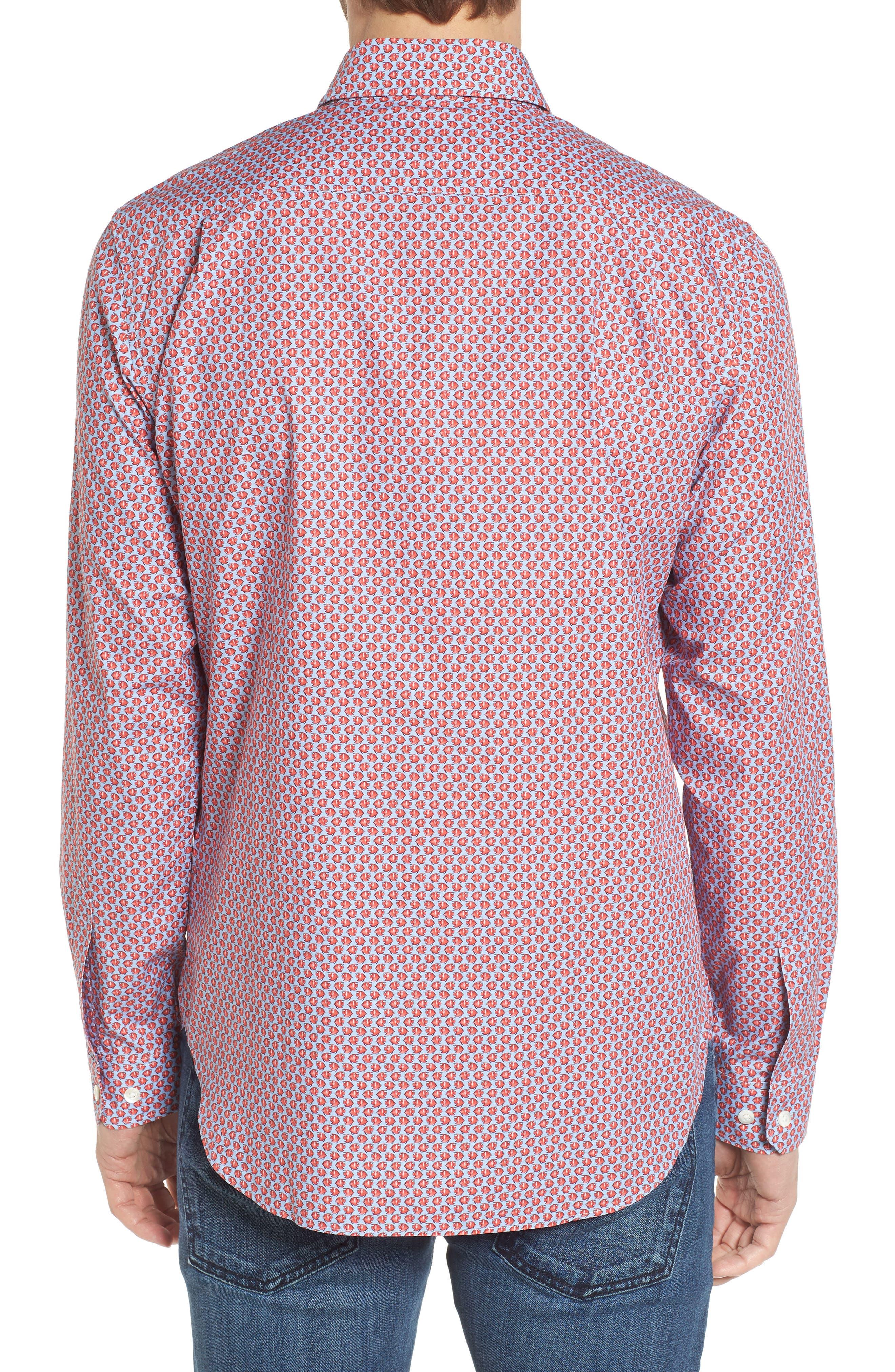 Premium Slim Fit Print Sport Shirt,                             Alternate thumbnail 2, color,                             600