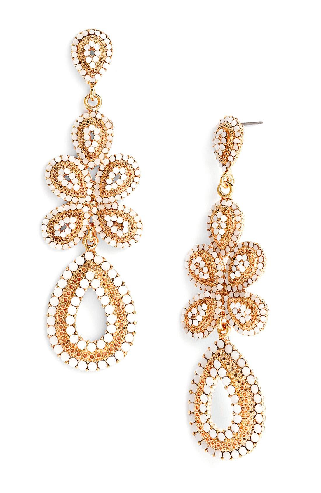 'Ornate' Linear Statement Earrings,                             Main thumbnail 5, color,