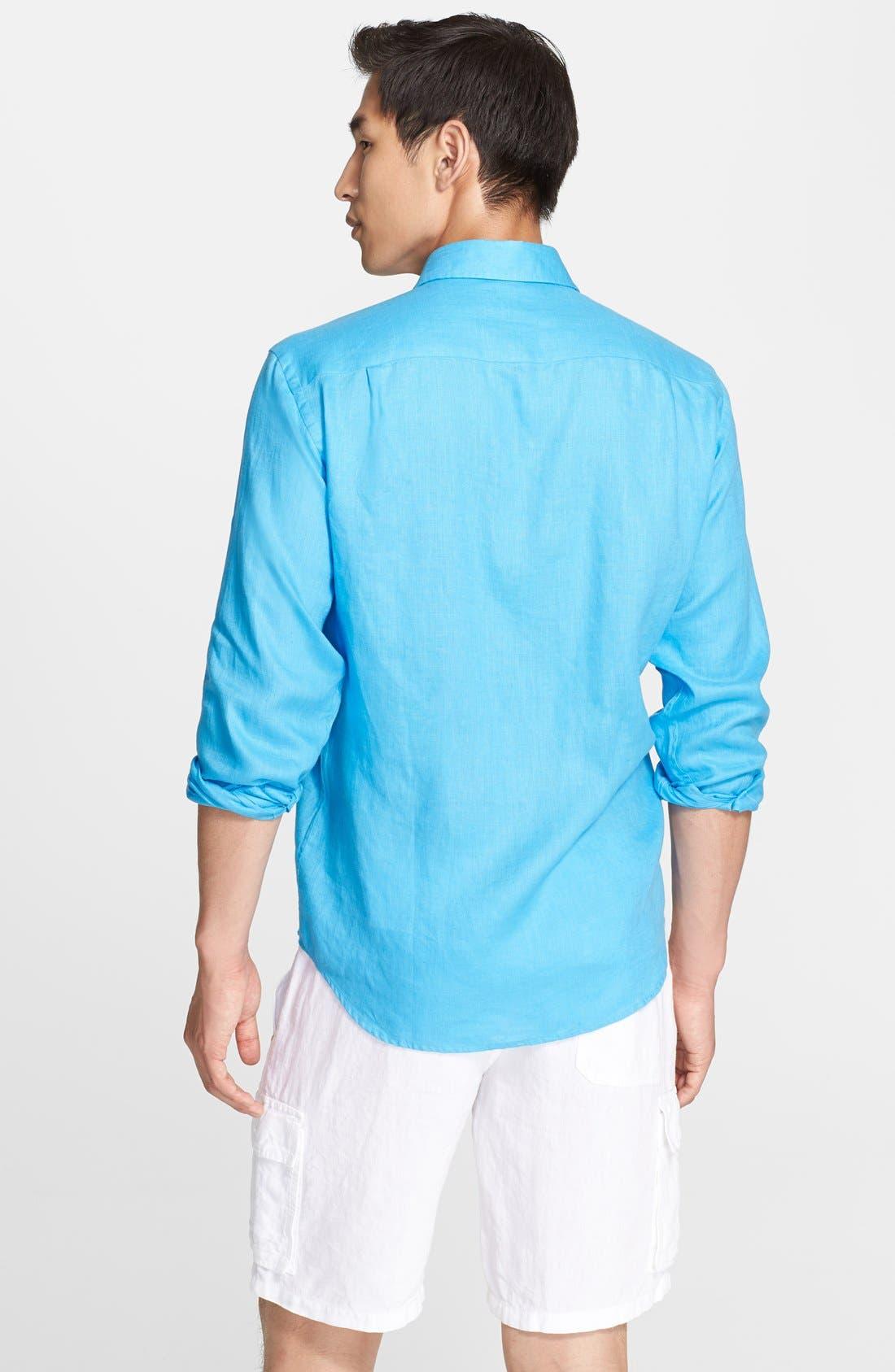 'Caroubier' Linen Shirt,                             Alternate thumbnail 23, color,