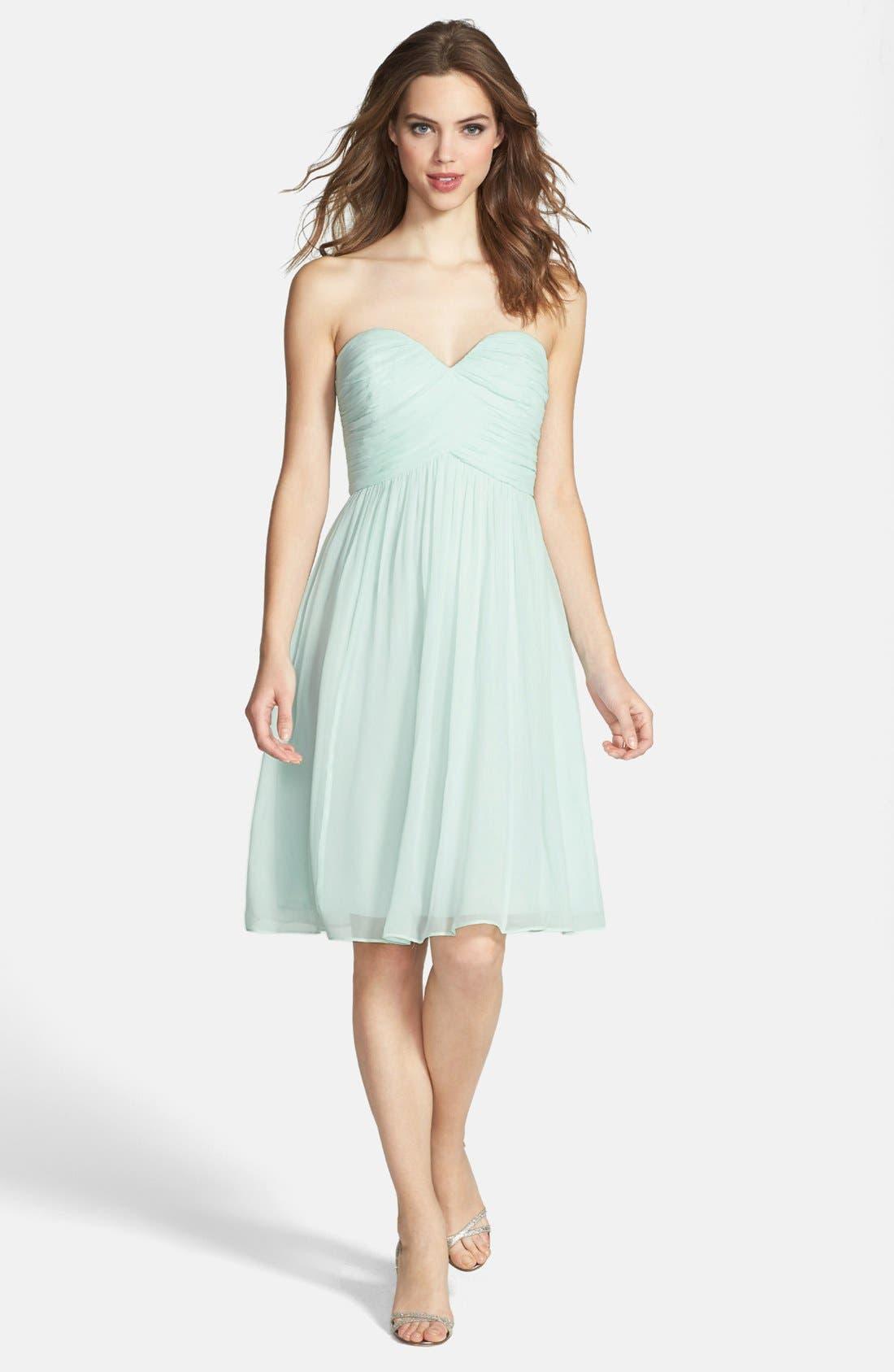 'Morgan' Strapless Silk Chiffon Dress,                             Alternate thumbnail 52, color,