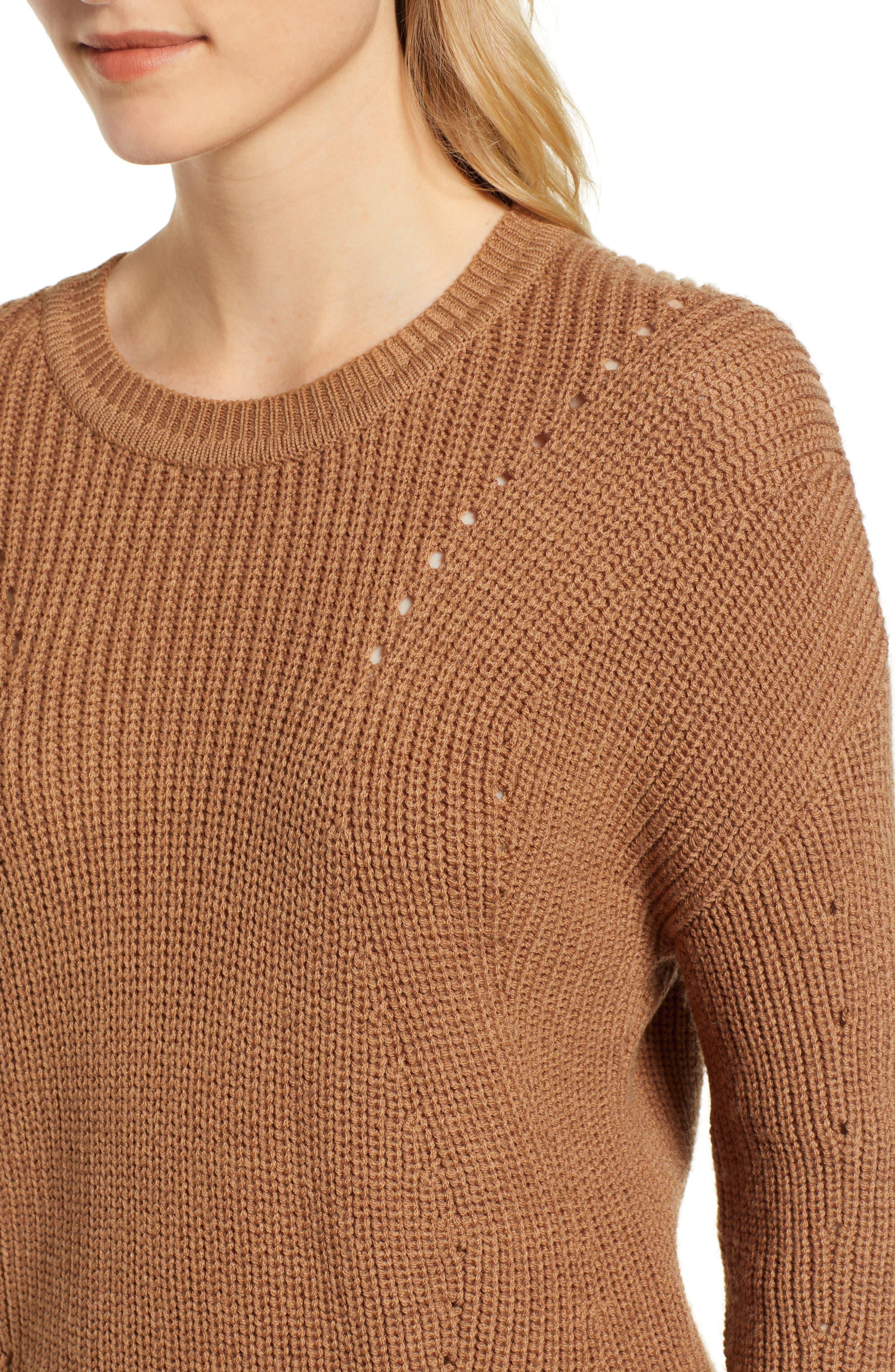 Crewneck Sweater,                             Alternate thumbnail 4, color,                             BRONZE
