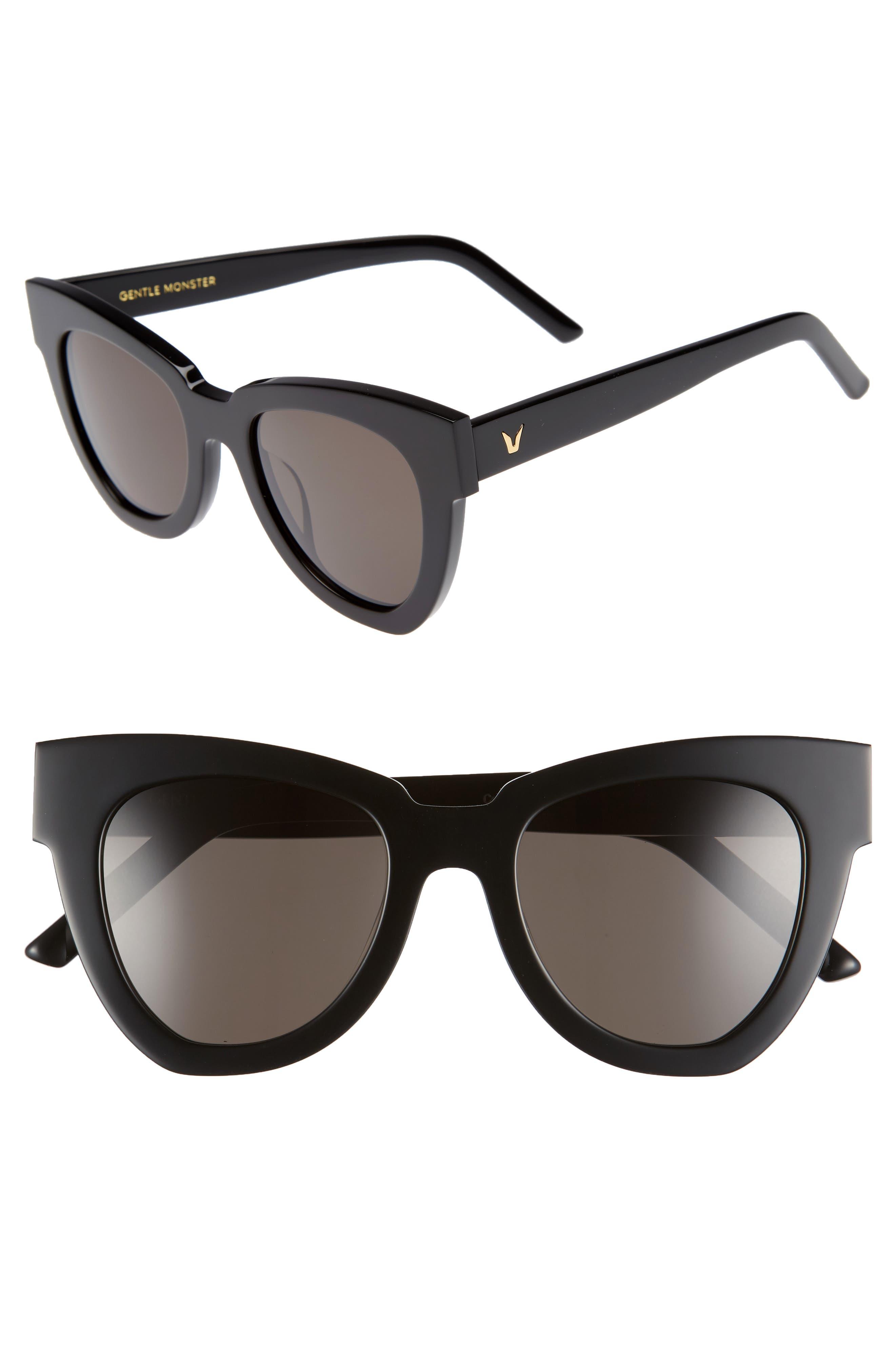 Laser 51mm Cat Eye Sunglasses,                         Main,                         color, 001