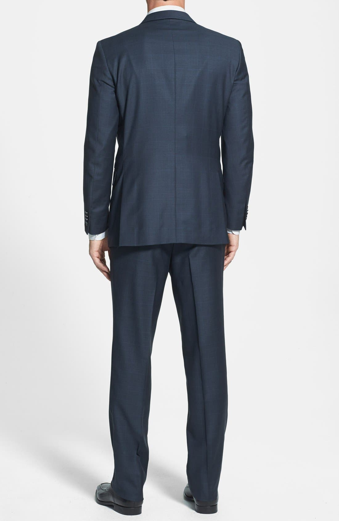 PETER MILLAR,                             Classic Fit Navy Windowpane Suit,                             Alternate thumbnail 4, color,                             410