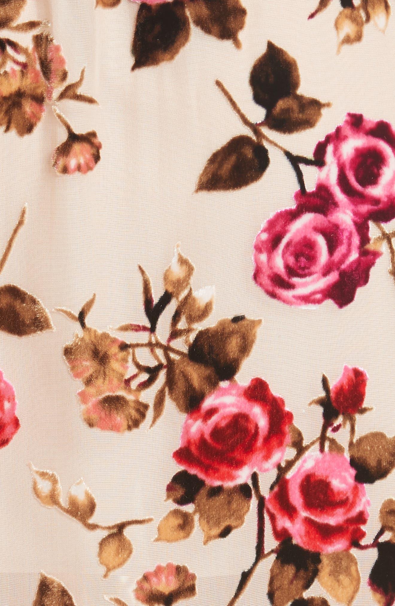 ALICE + OLIVIA,                             Clarine Floral Faux Wrap Dress,                             Alternate thumbnail 6, color,                             251