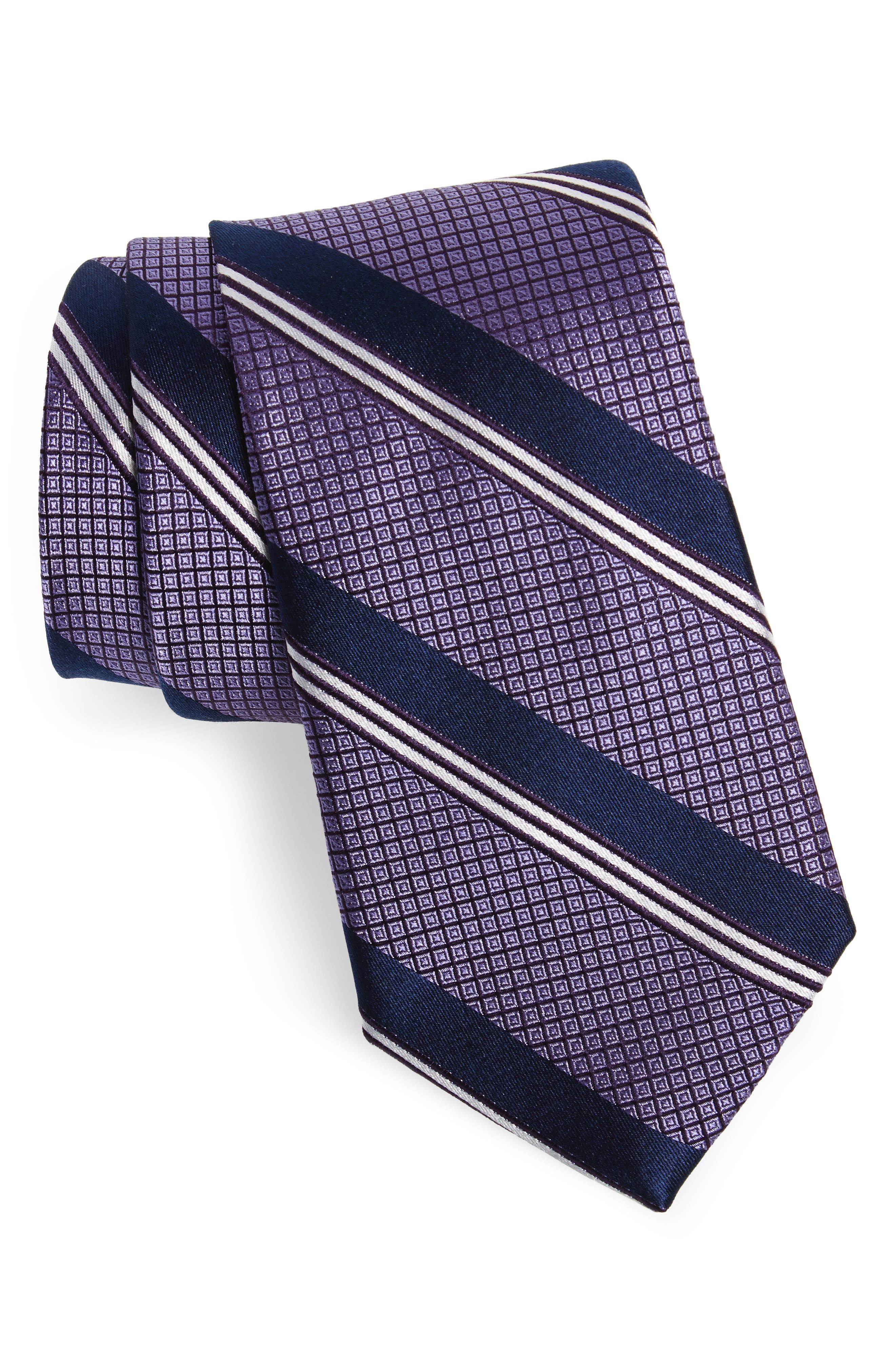 Stripe Silk Tie,                             Main thumbnail 2, color,