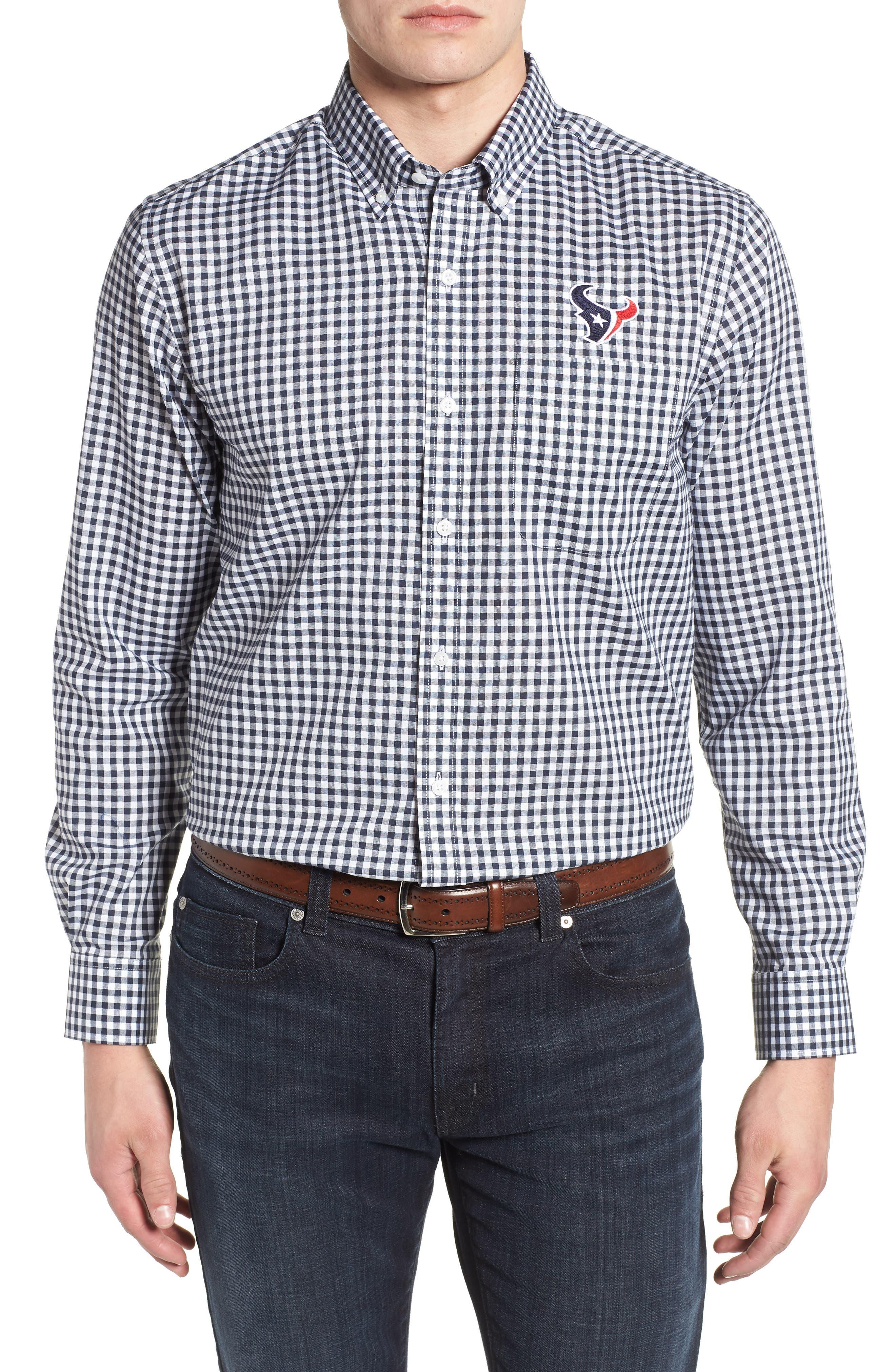 League Houston Texans Regular Fit Shirt,                         Main,                         color, LIBERTY NAVY