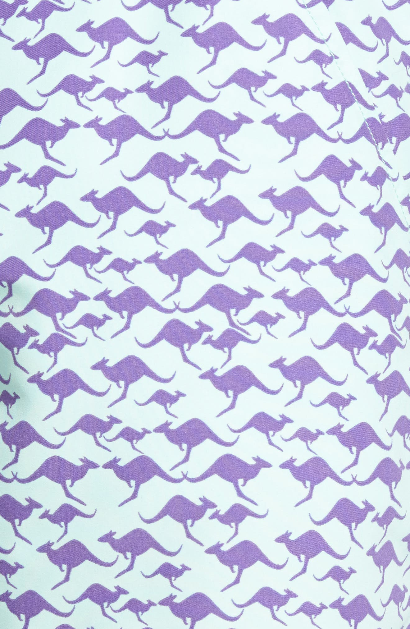 Kangaroo Print Swim Trunks,                             Alternate thumbnail 5, color,                             500