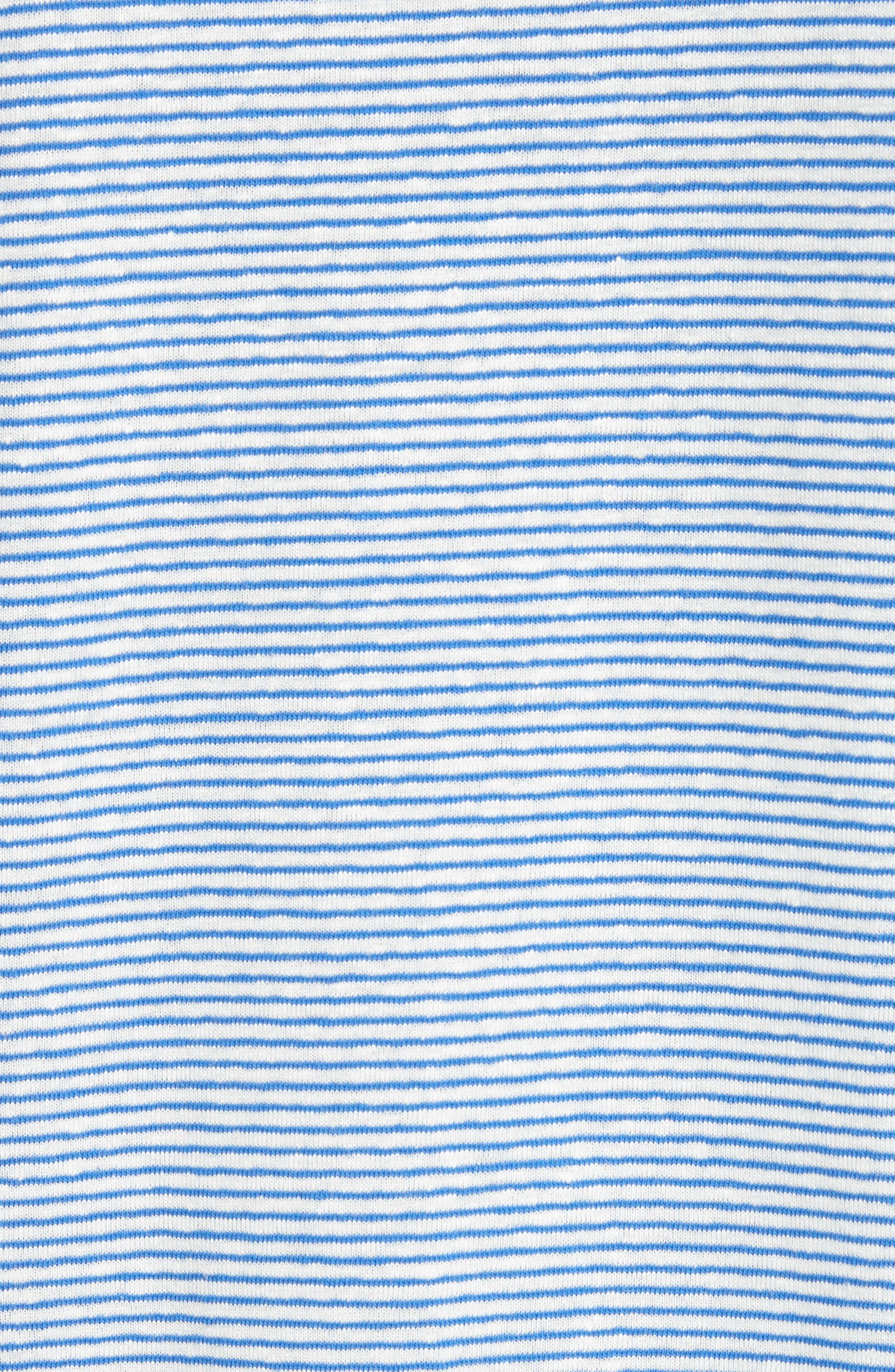 Jimmy Stripe T-Shirt,                             Alternate thumbnail 5, color,                             BLUE