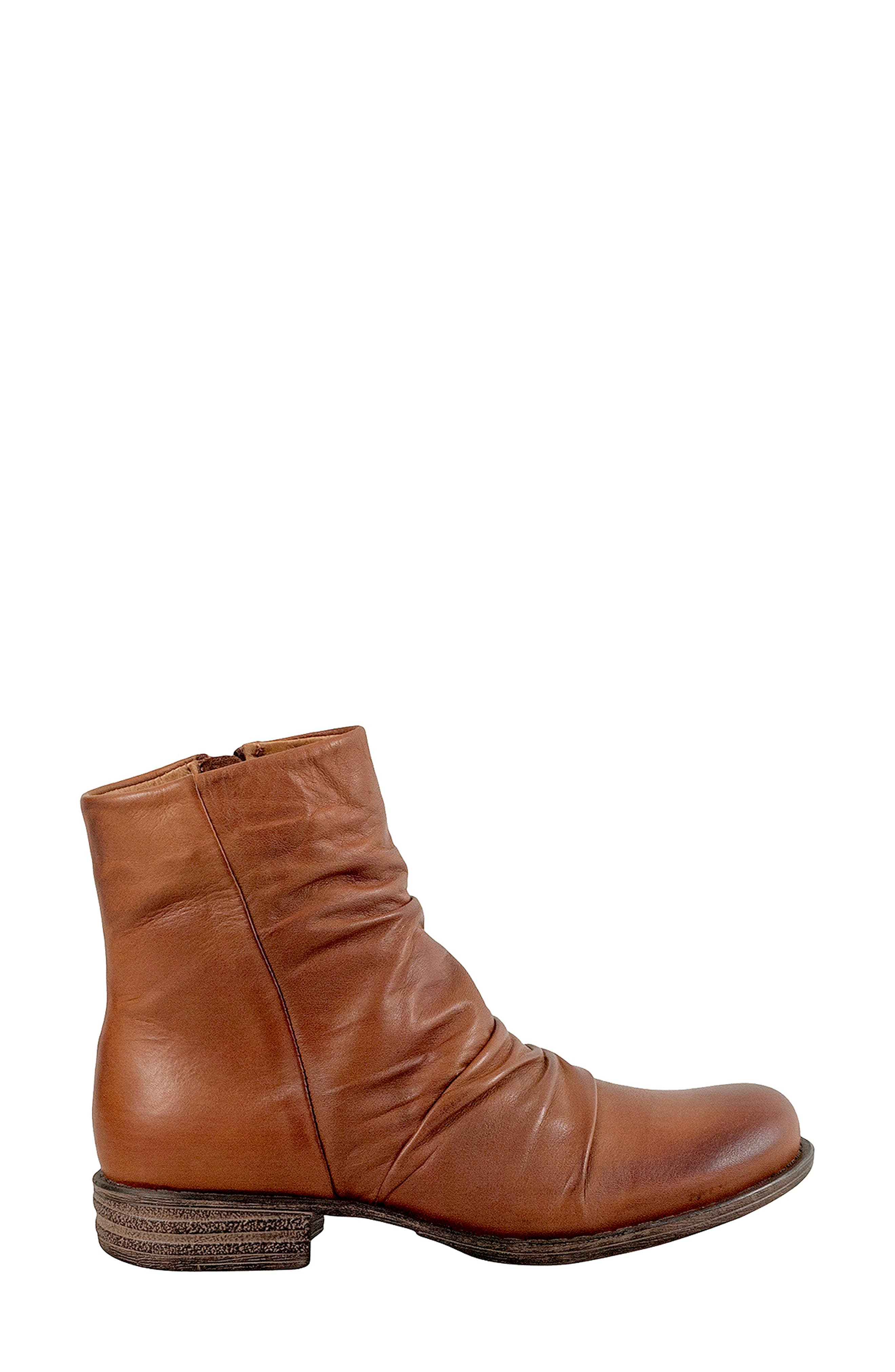 Lane Bootie,                             Alternate thumbnail 3, color,                             BRANDY LEATHER