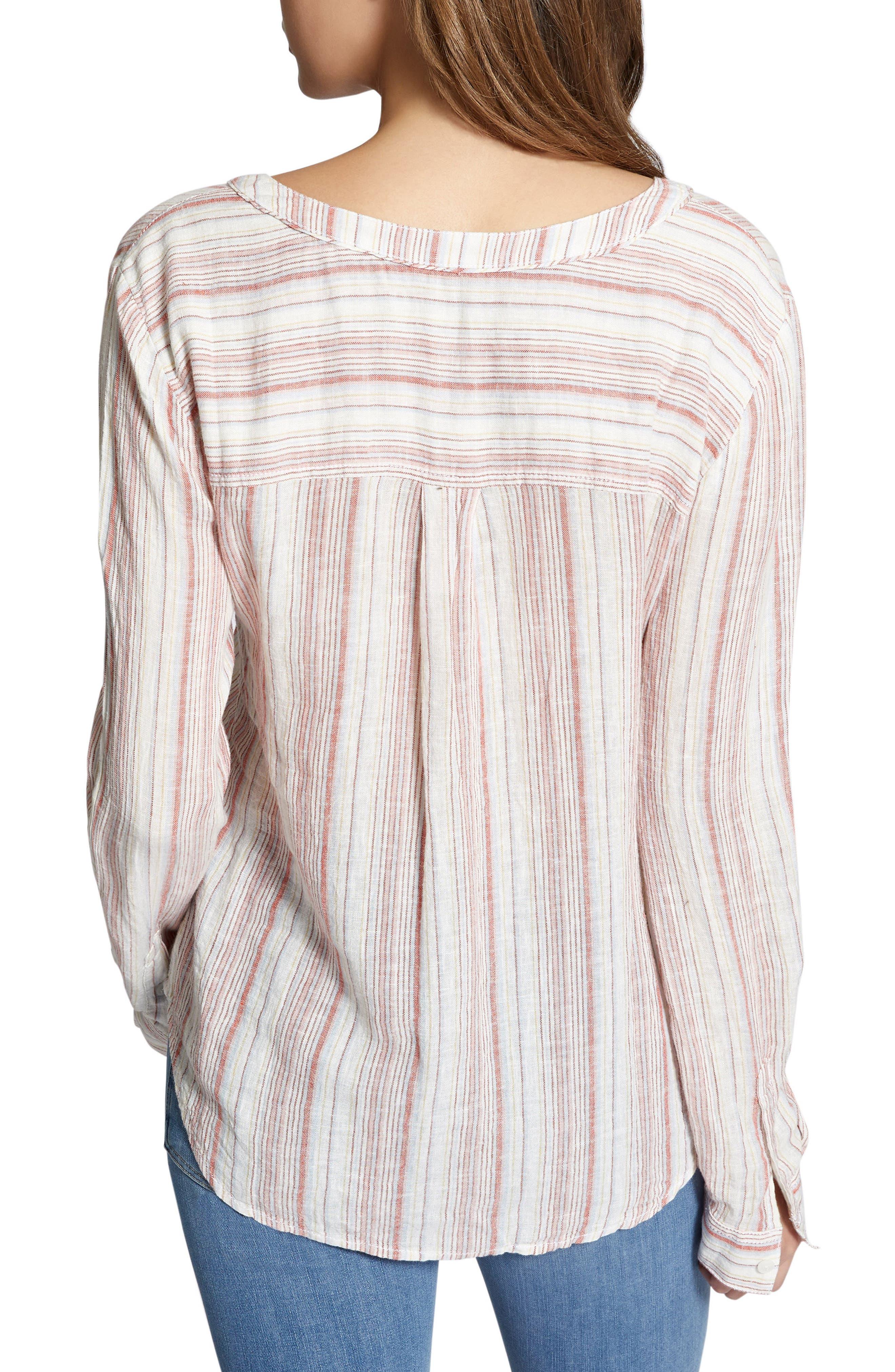 Tommie Lace-Up Stripe Shirt,                             Alternate thumbnail 6, color,