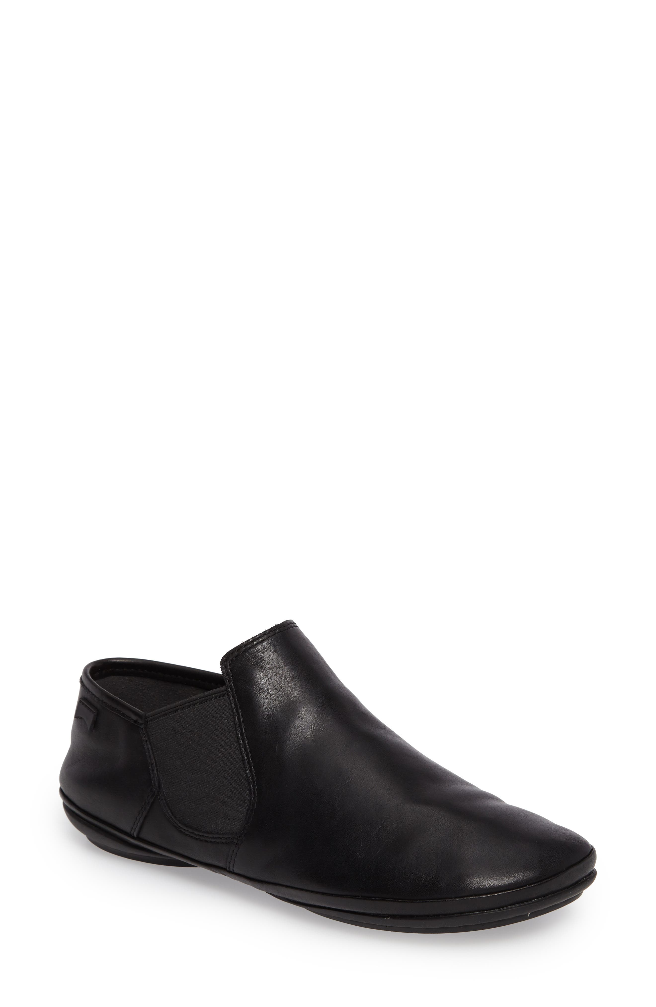 'Right Nina' Bootie,                         Main,                         color, BLACK LEATHER