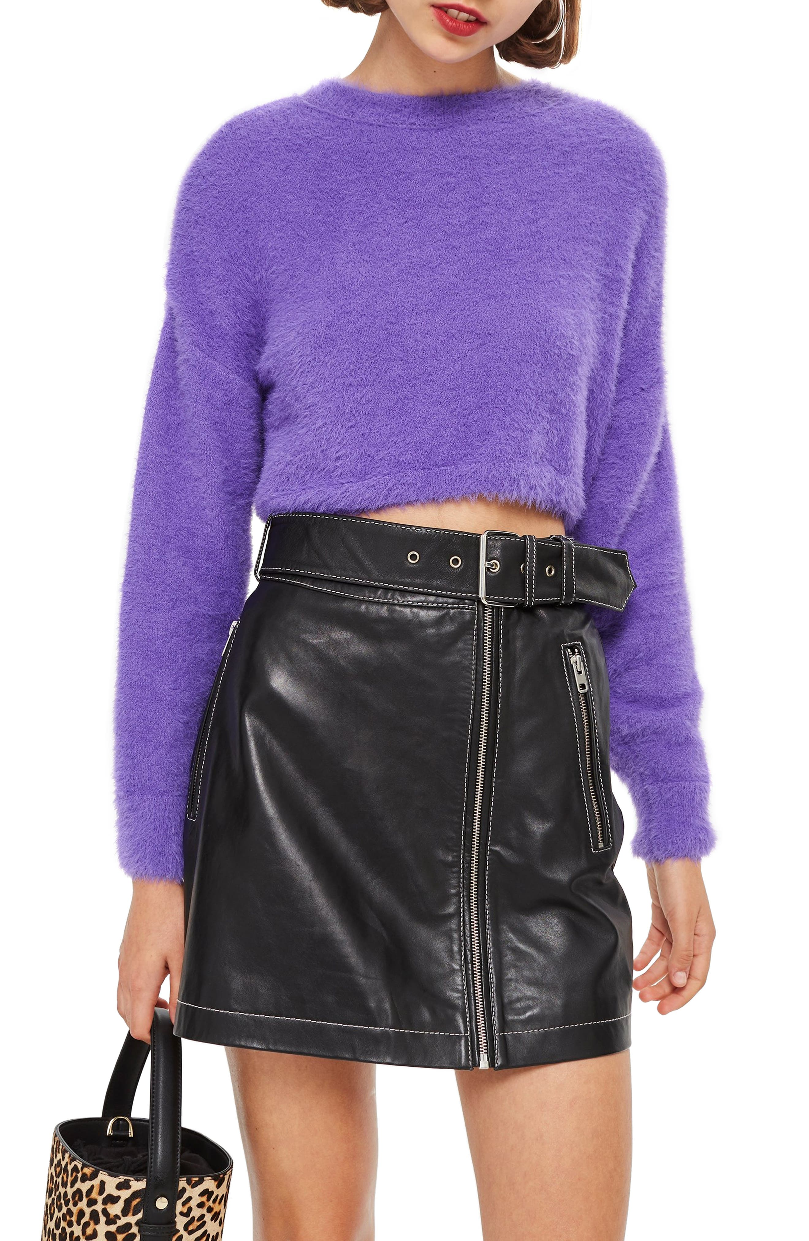 Fluffy Crop Sweater,                             Main thumbnail 1, color,                             500