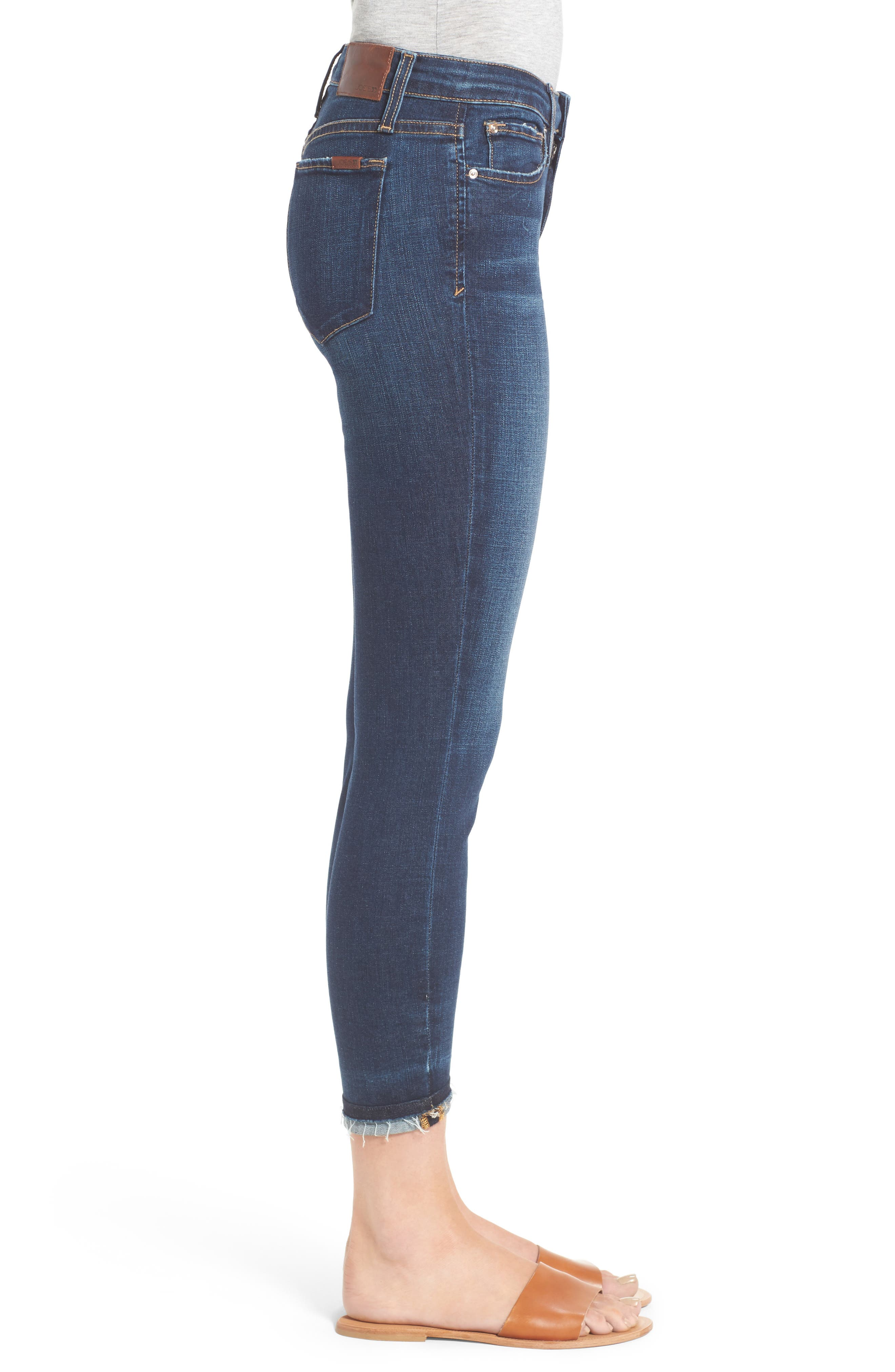 Markie High Rise Crop Skinny Jeans,                             Alternate thumbnail 3, color,