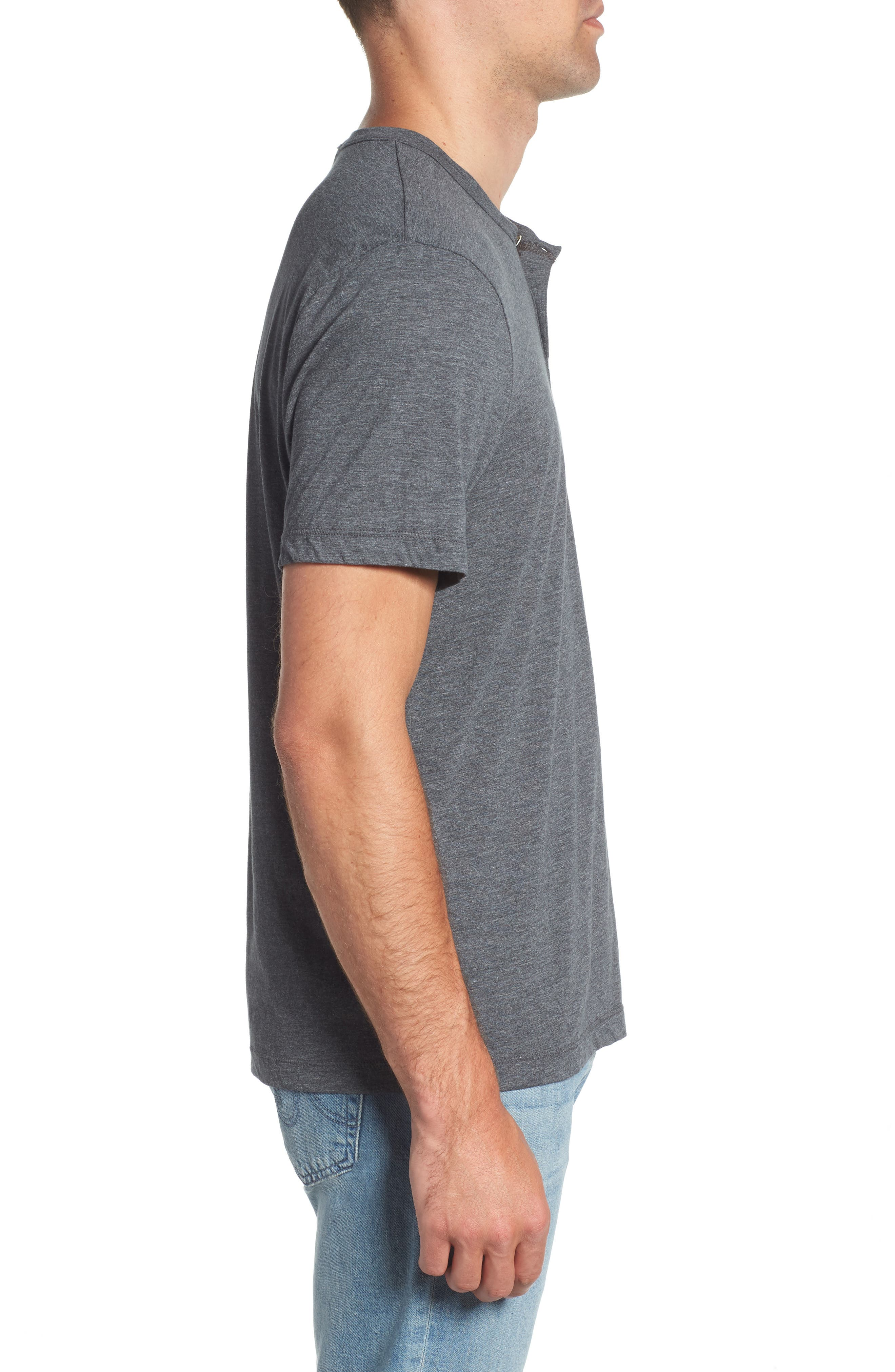 Cotton Blend Short Sleeve Henley,                             Alternate thumbnail 3, color,                             020