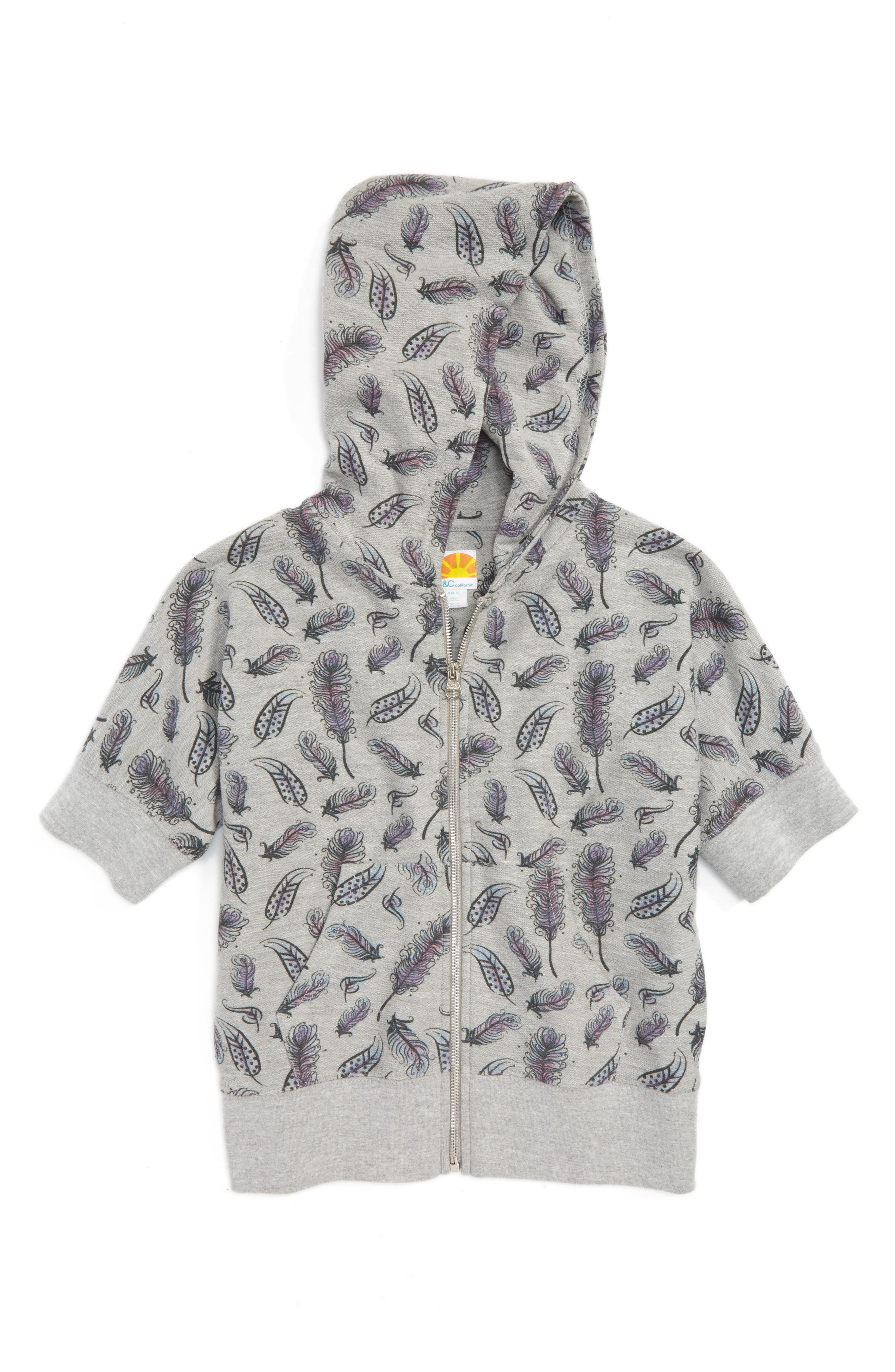 Feather Graphic Hoodie,                             Main thumbnail 1, color,                             023