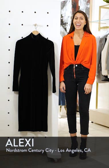 Bow Back Stretch Velvet Dress, sales video thumbnail