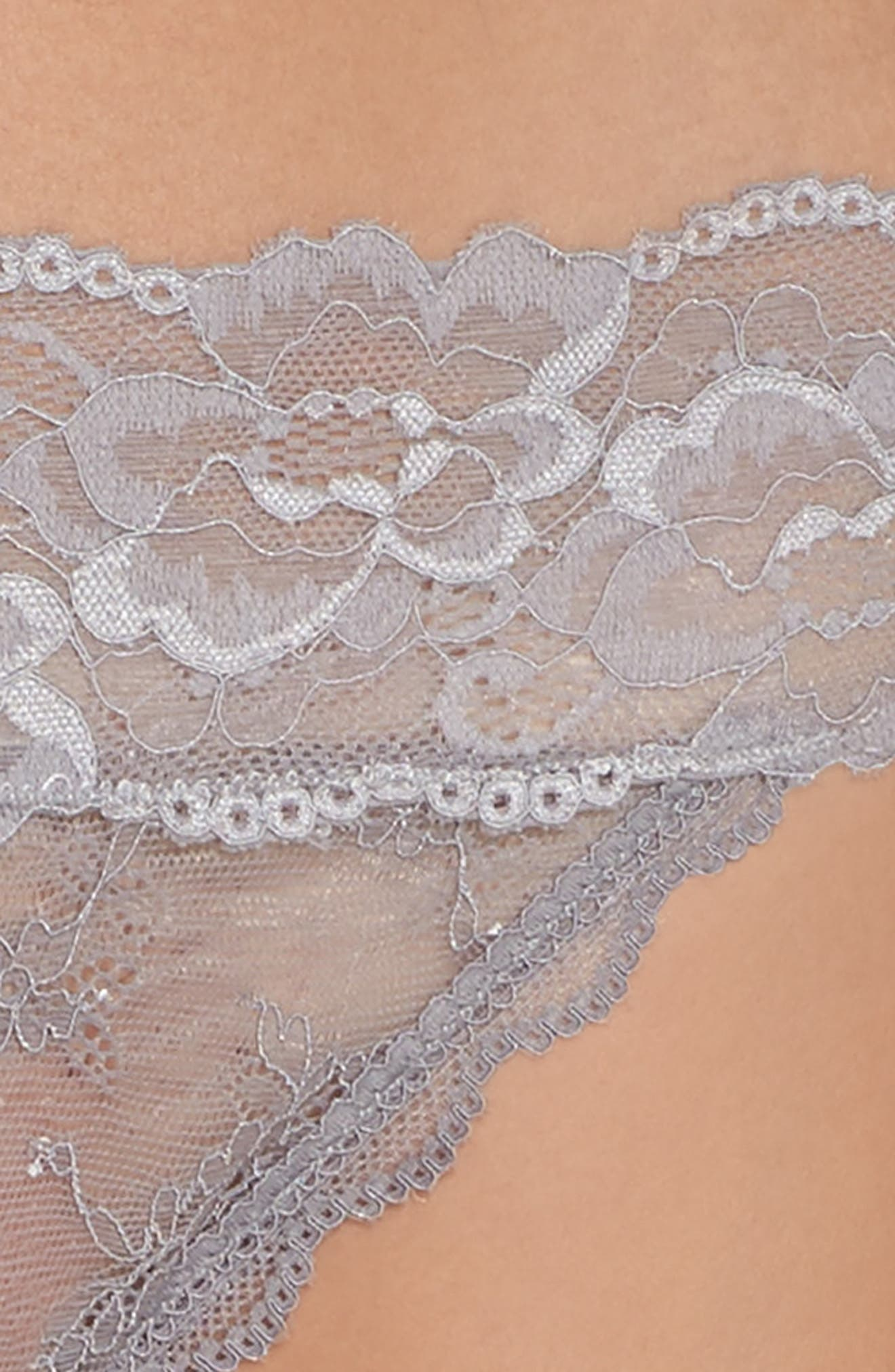 Honeydew Lace Thong,                             Alternate thumbnail 64, color,